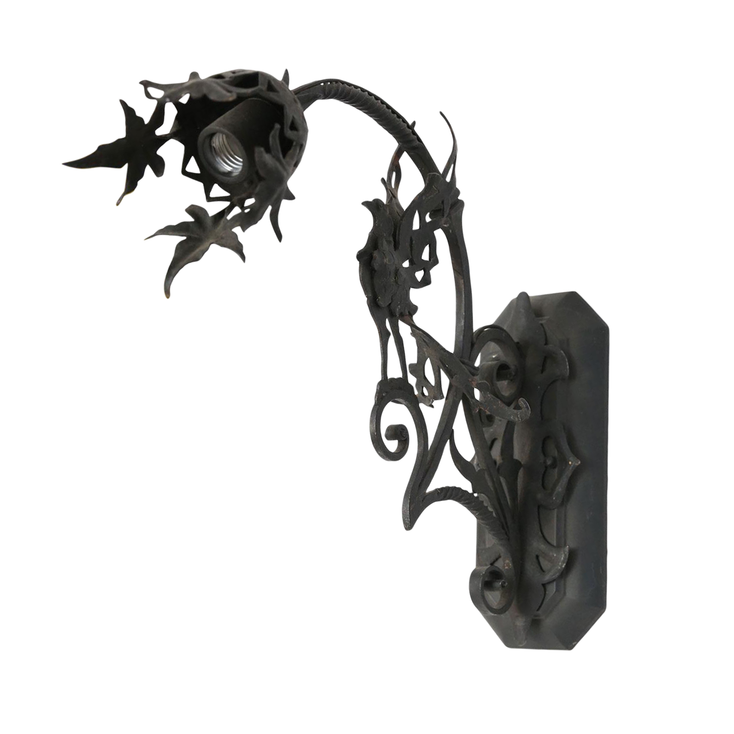Forged Single Iron Sconce in the Manner of Gilbert Poillerat