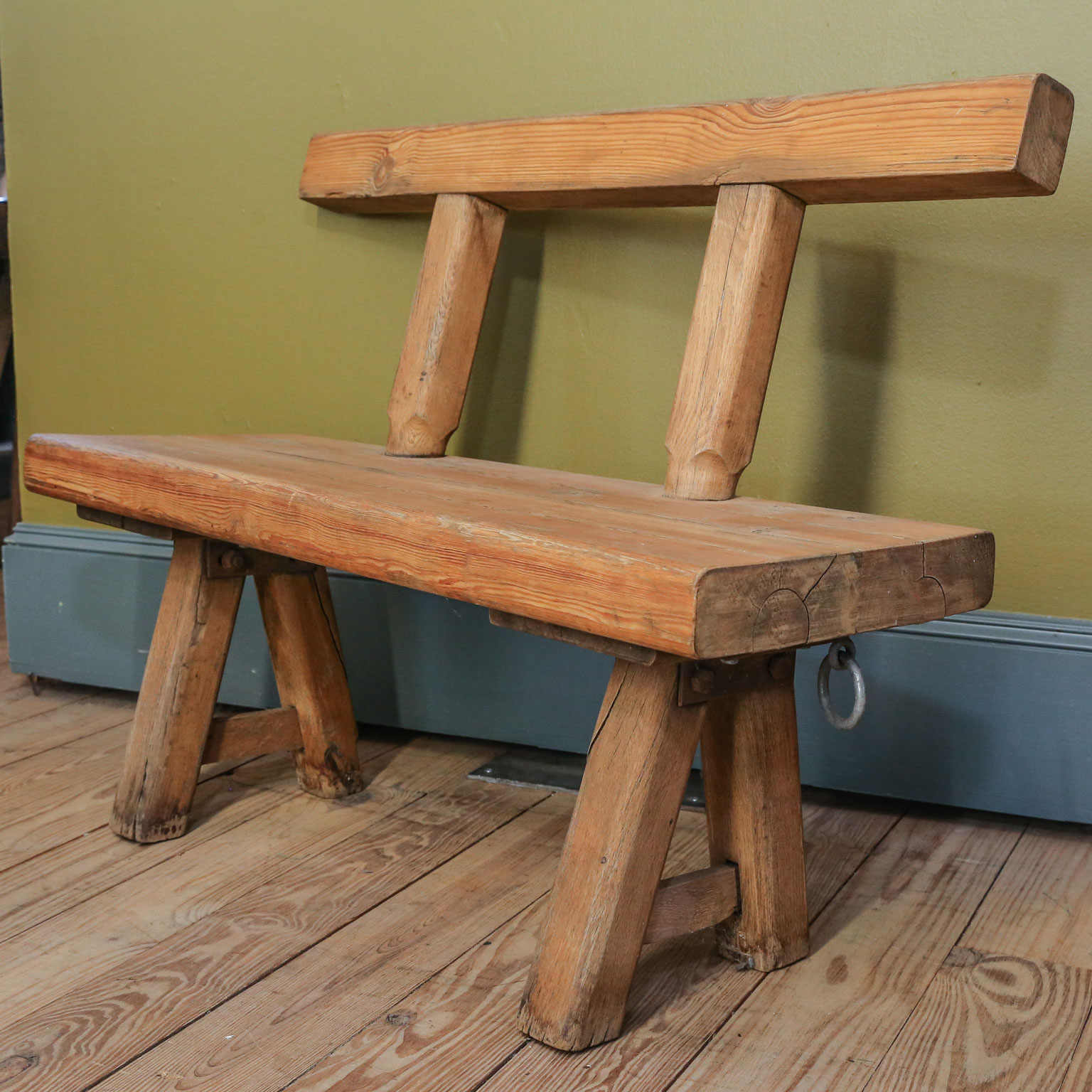 Chunky Oak Rustic Bench