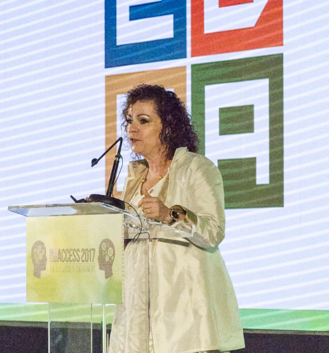 Donna Shultz speaking at ACCESS 2017