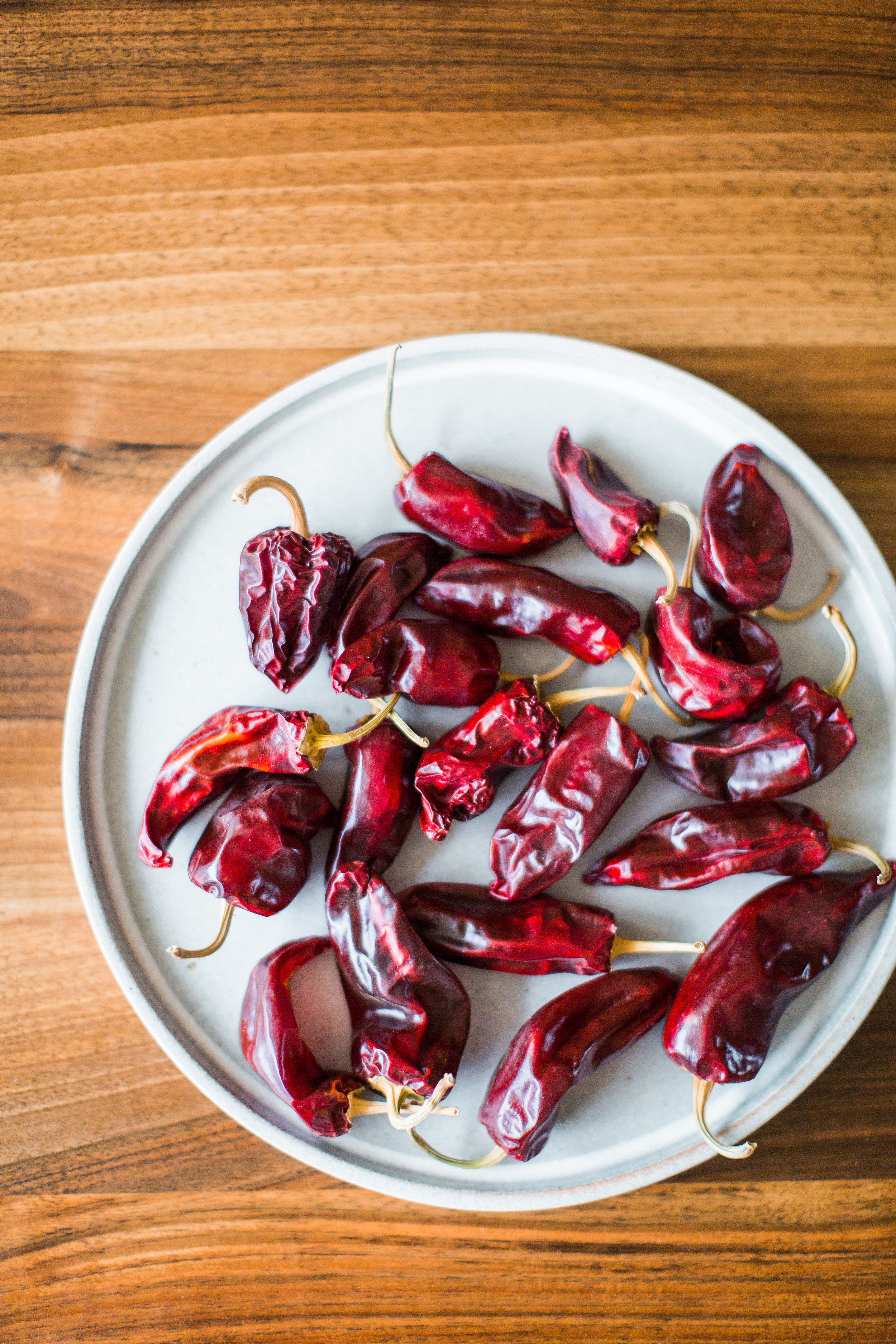 dried red chilis.
