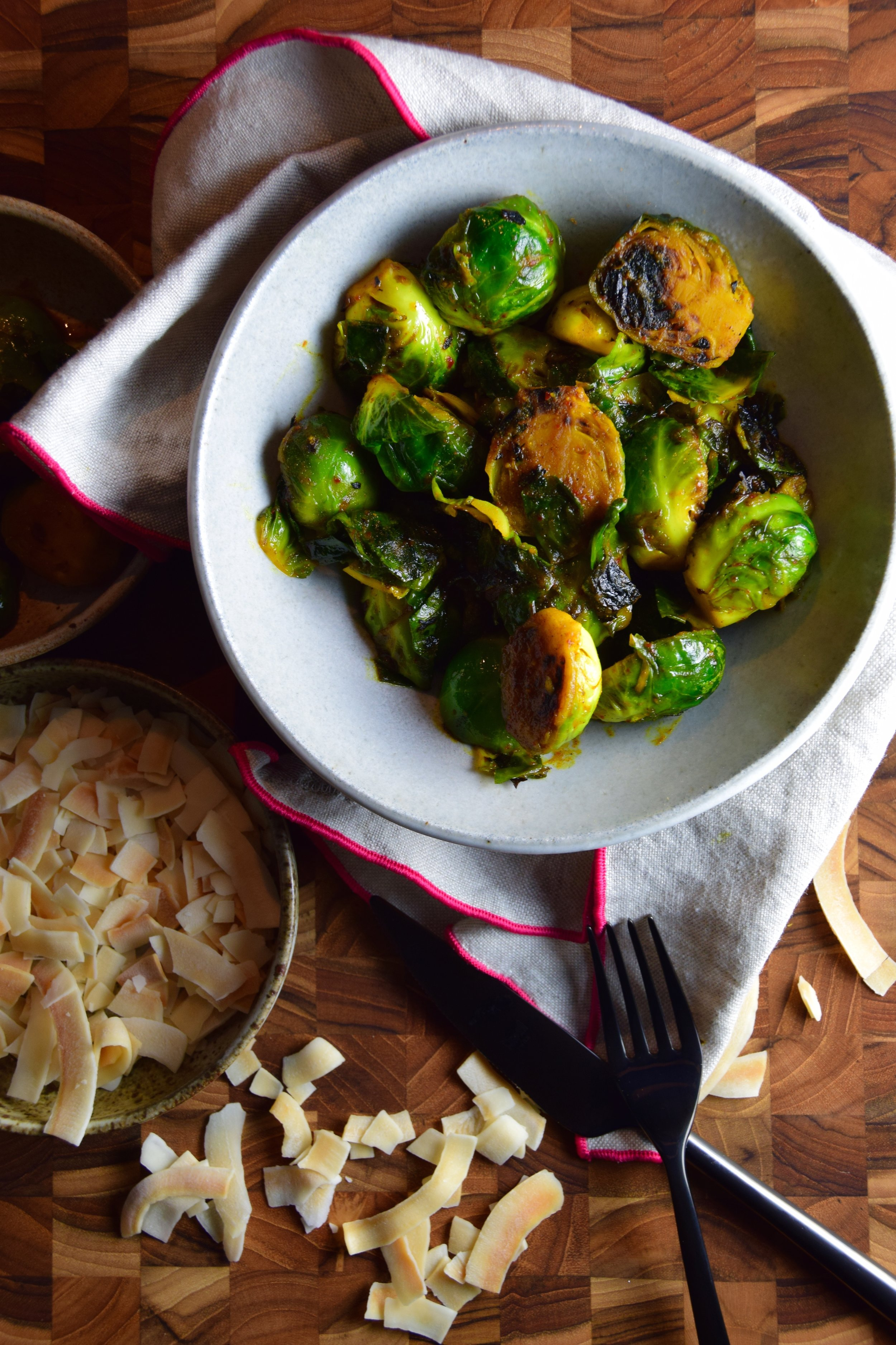 hot honey coconut brussels.