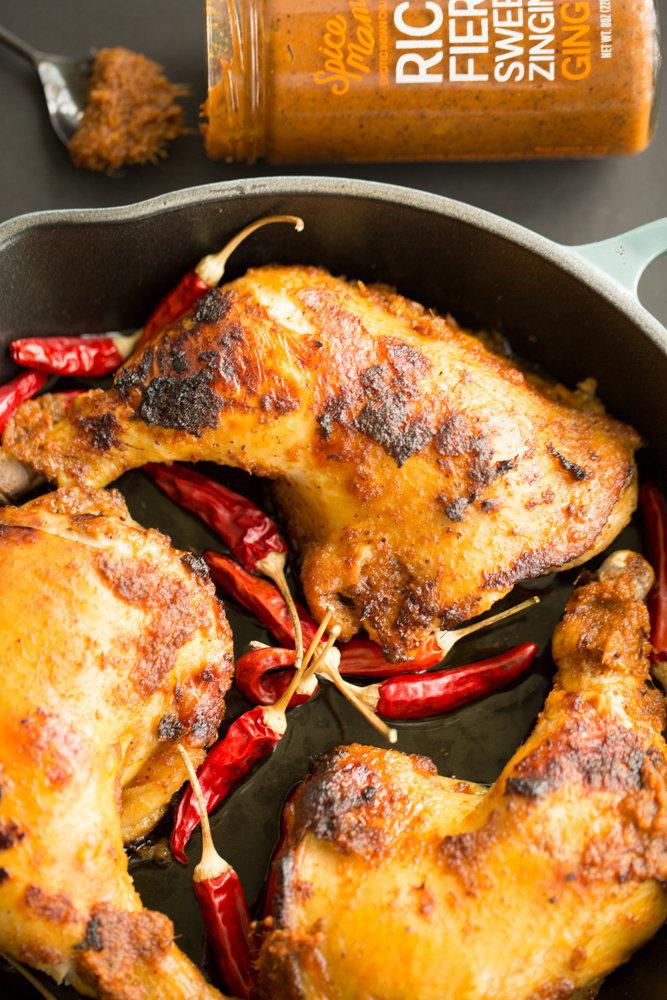 ginger marinated chicken thighs.