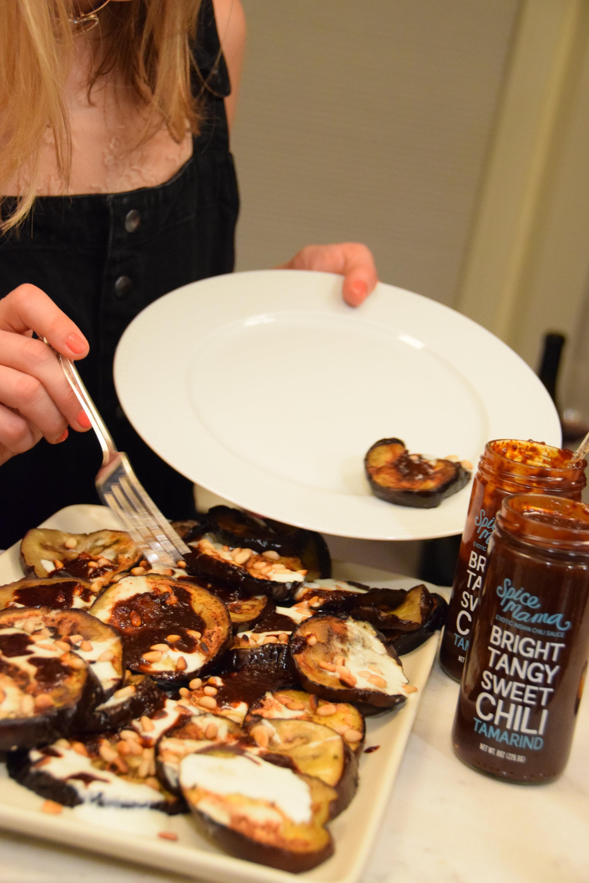 roasted eggplant + tangy tamarind.