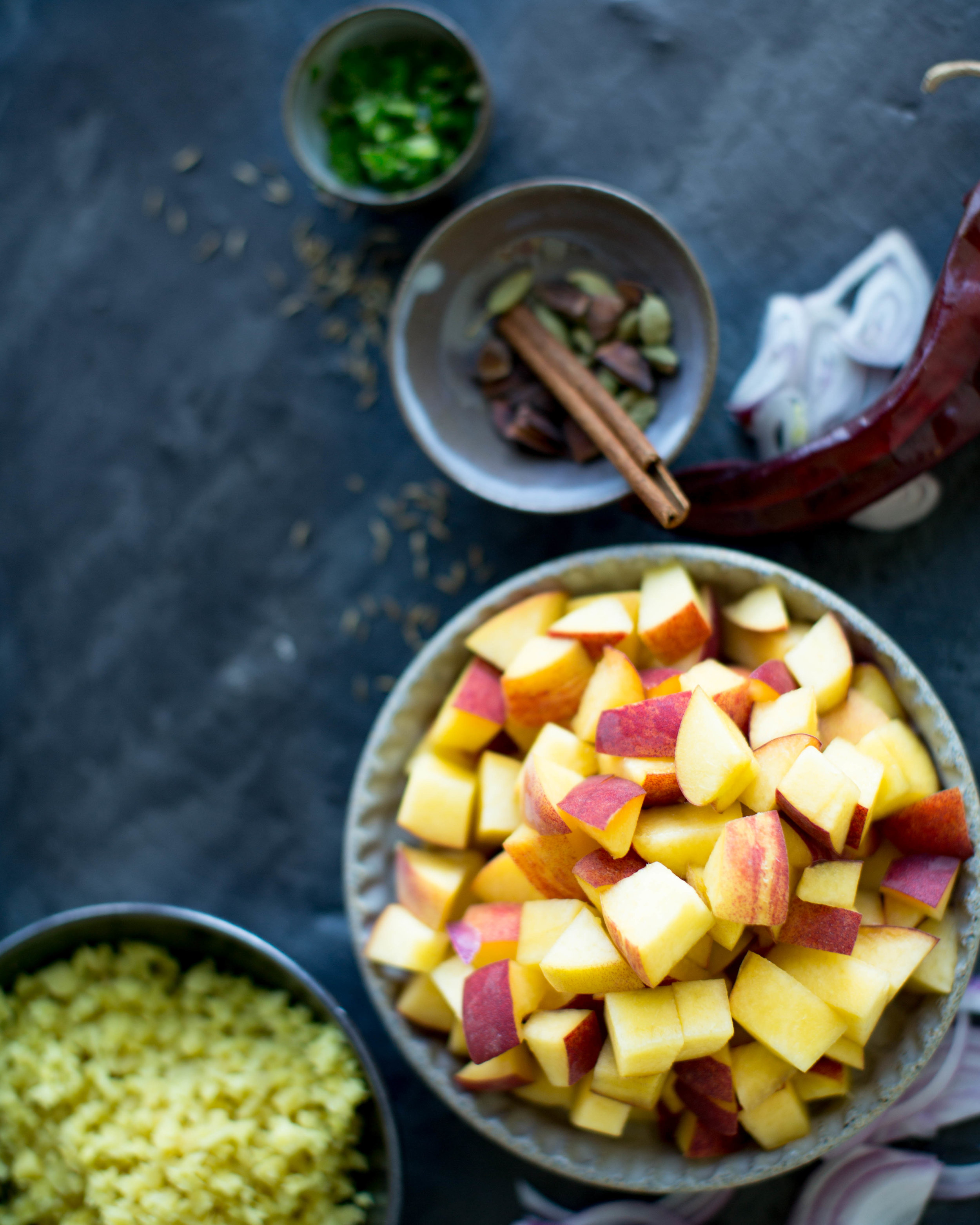 summer peach chutney.