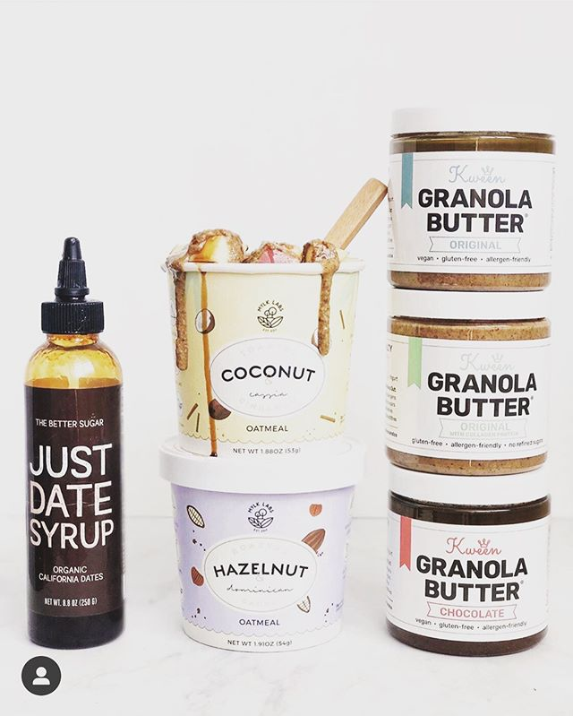 🎉WOMAN-FOUNDER GIVEAWAY!🎉We're teaming up with two badass woman-owned companies, @kweenandco and @mylklabs to gift one winner a 6-cup variety pack of oats, 3-jar variety of granola butter and gift-pack withJust Date Syrup, Just Pomegranate Syrup, and Just Date Syrup single serves. Here's how to enter: 1. Follow @mylklabs, @kweenandco & @justdatesyrup. 2. Like this post & tag your friends. More tags, more entries! 3. Bonus entry: tell us how you'd enjoy these 3 products together. :) Winner will be announced on 7/4 (US ONLY). Not affiliated with Instagram. Good luck!