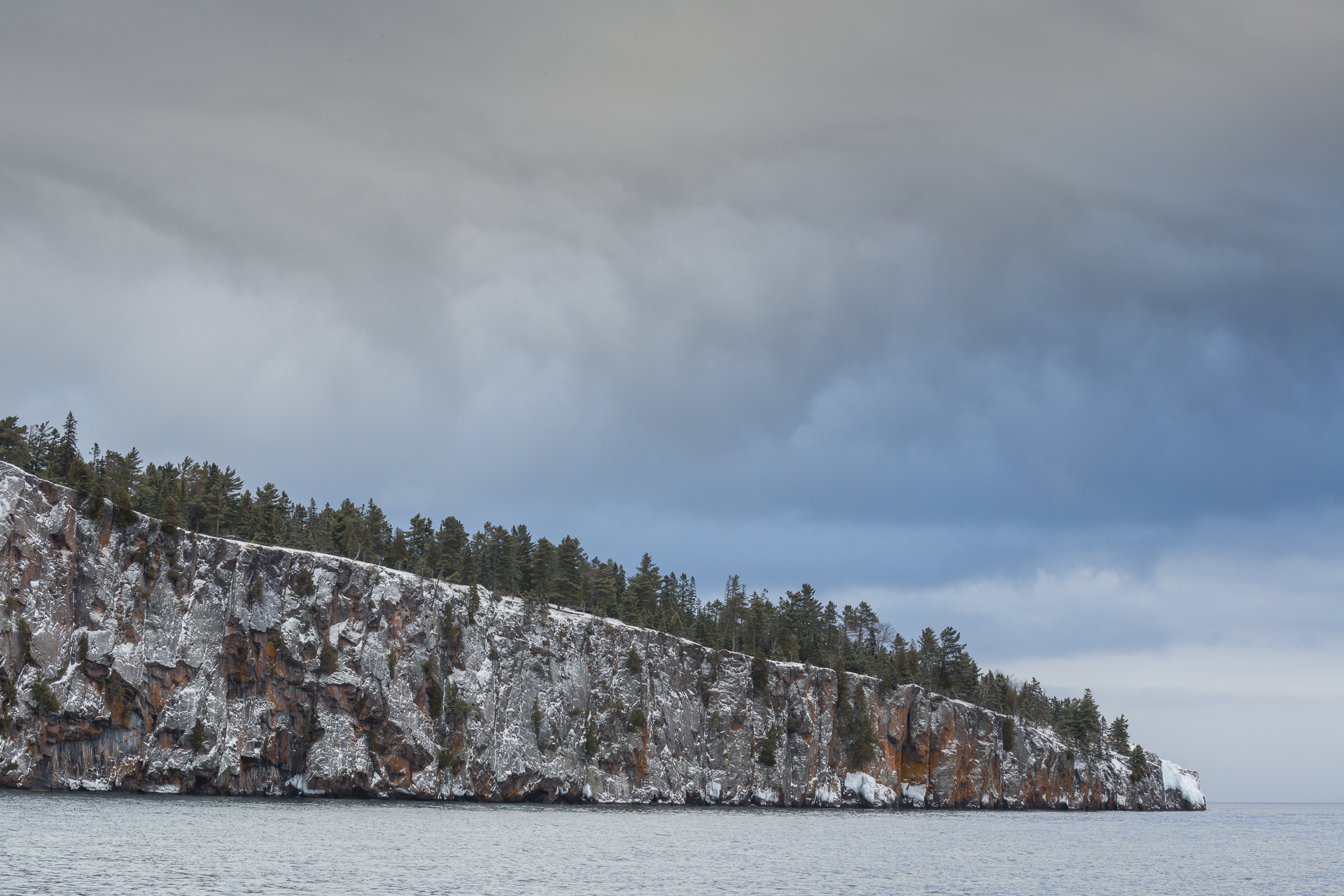 Shovel Point storm clouds: Tettegouche State Park