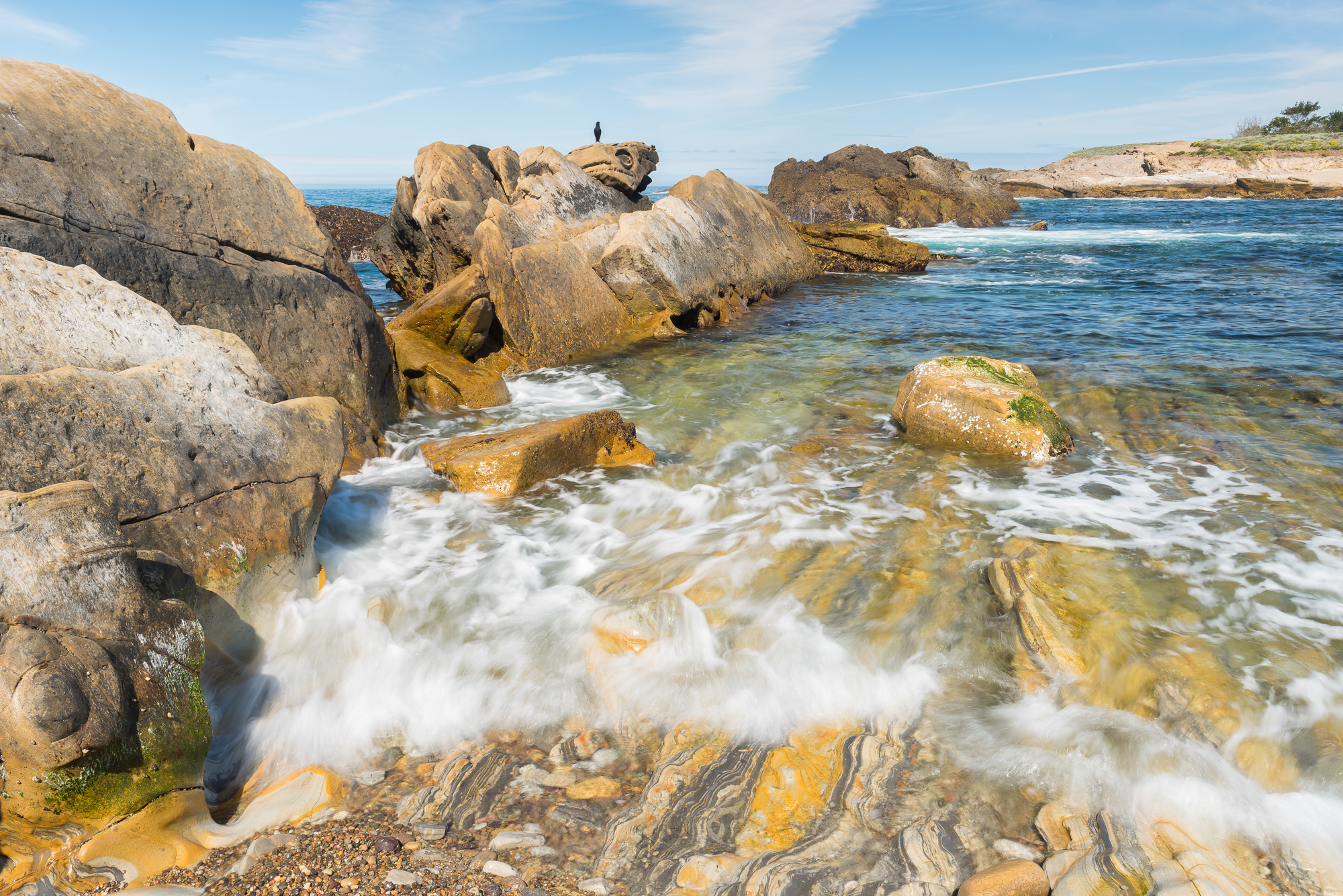 Incoming tide at Weston Beach. Point Lobos Reserve, CA.