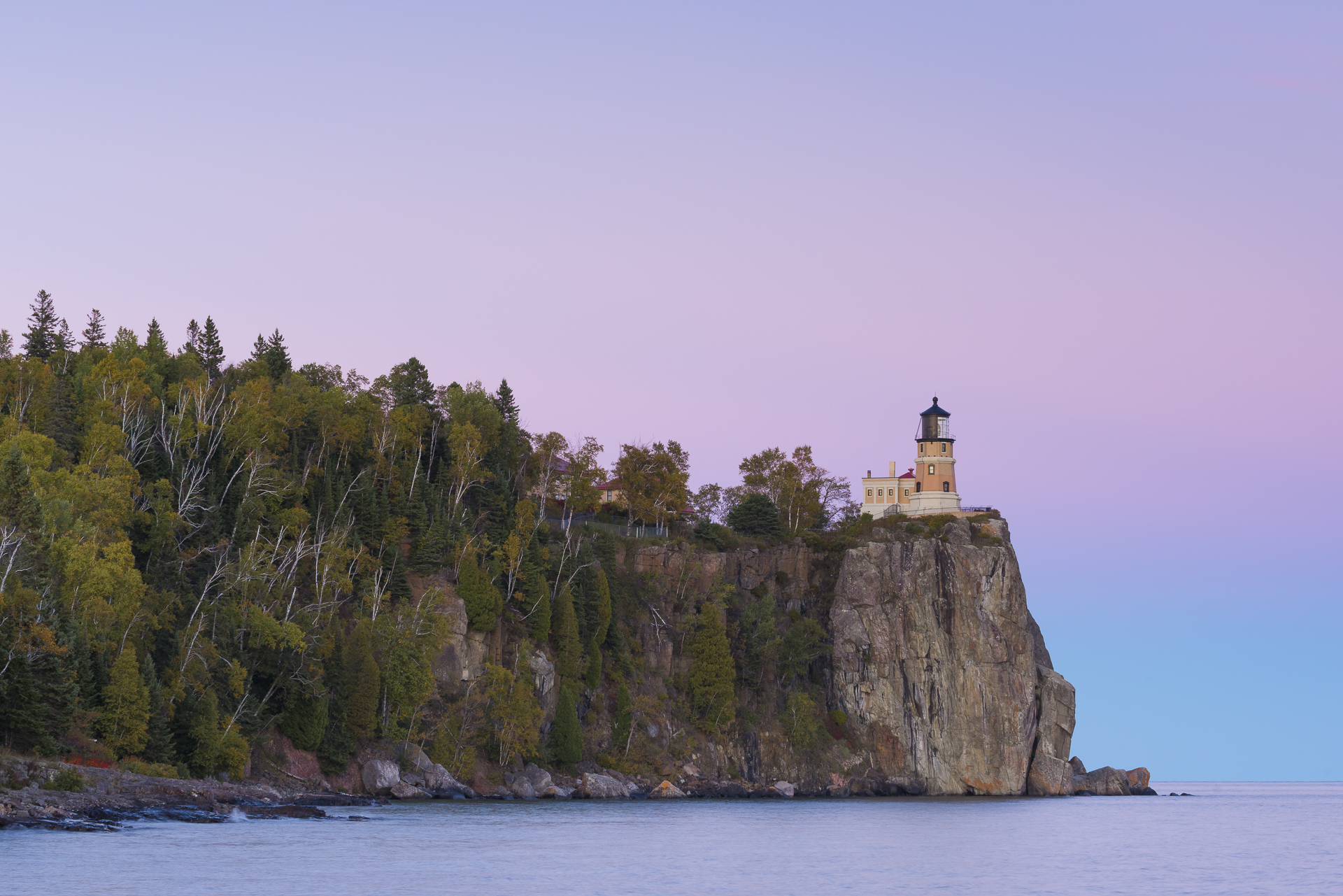 Pastel sunset: Split Rock Lighthouse SP