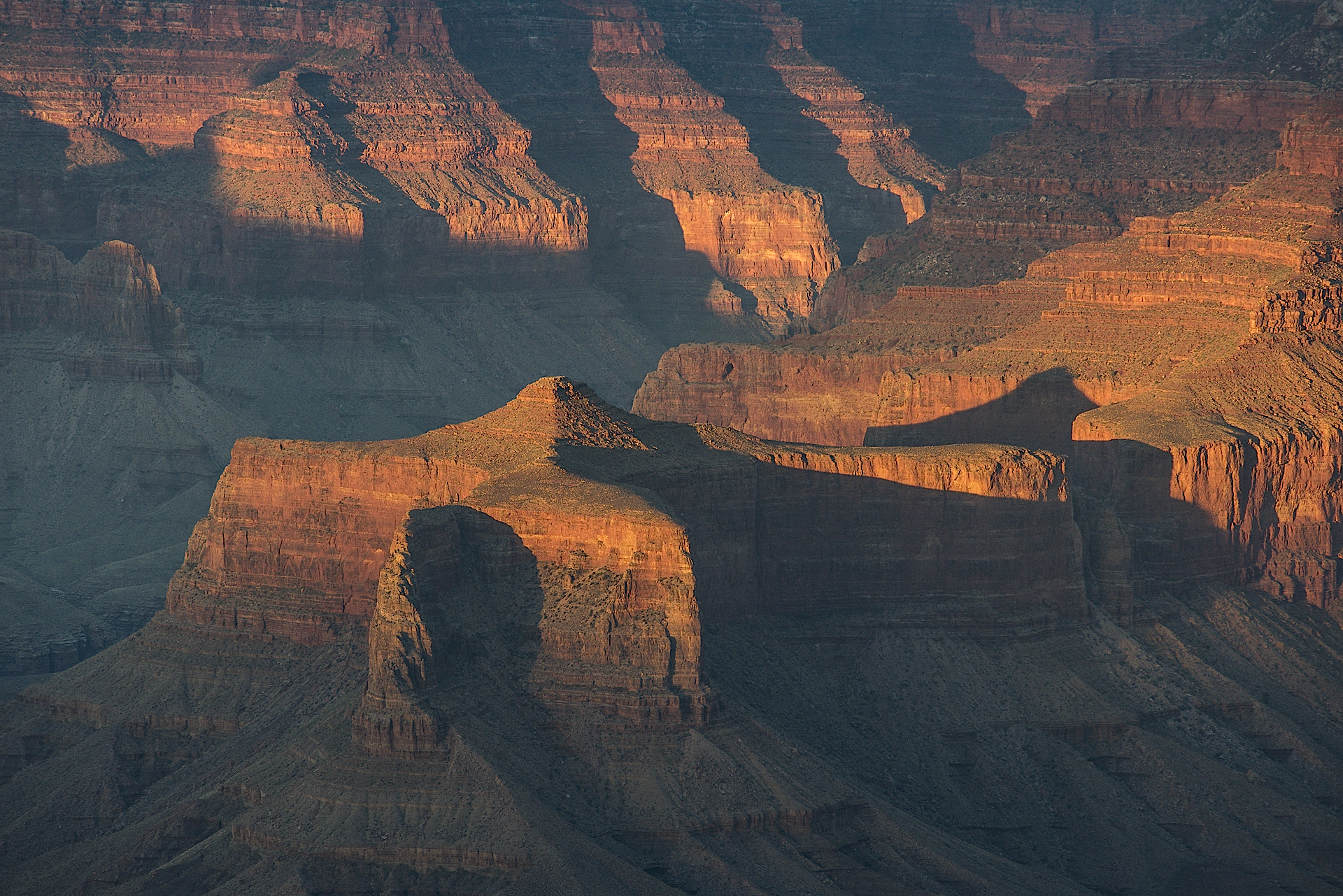 Grand Canyon NP, AZ: sunset from Yaki Point