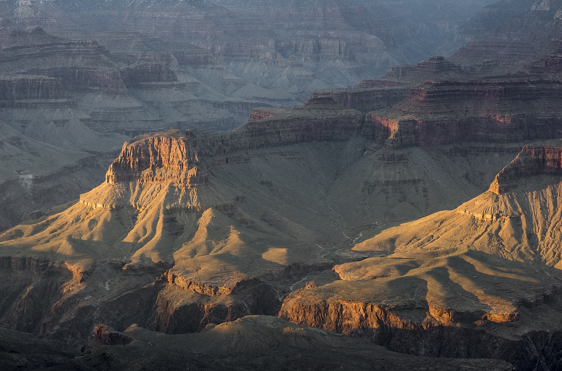 Grand Canyon National Park, AZ: sunset from Yaki Point