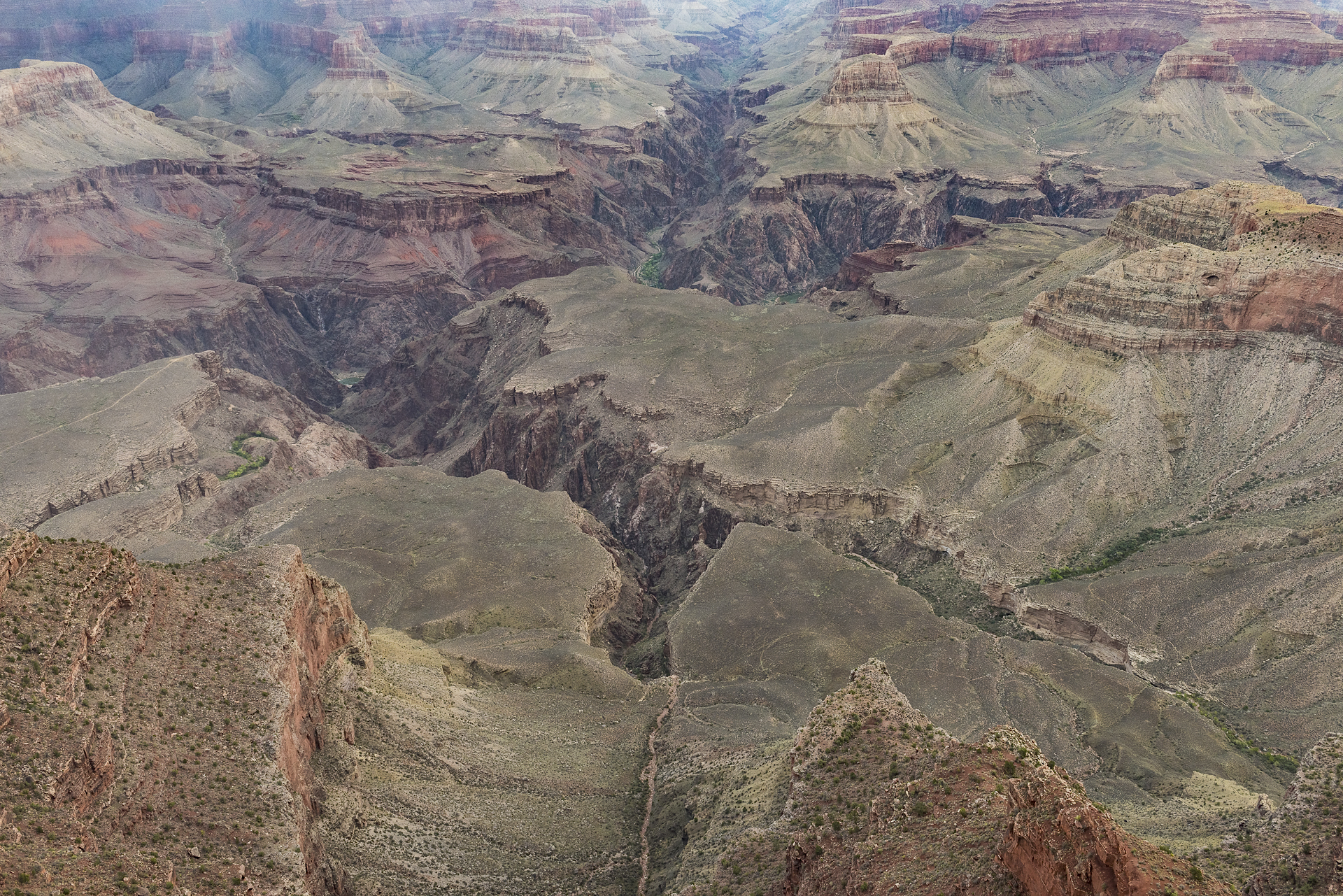 Eons of relentless erosion: Yavapai Pt., Grand Canyon NP, AZ