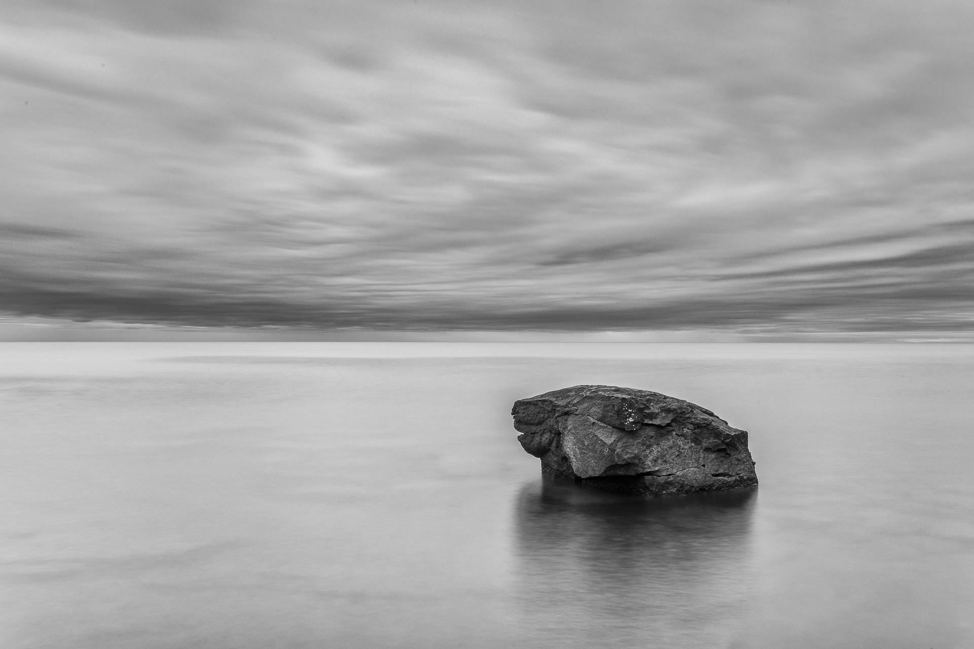Lone rock. Lake Superior, MN.