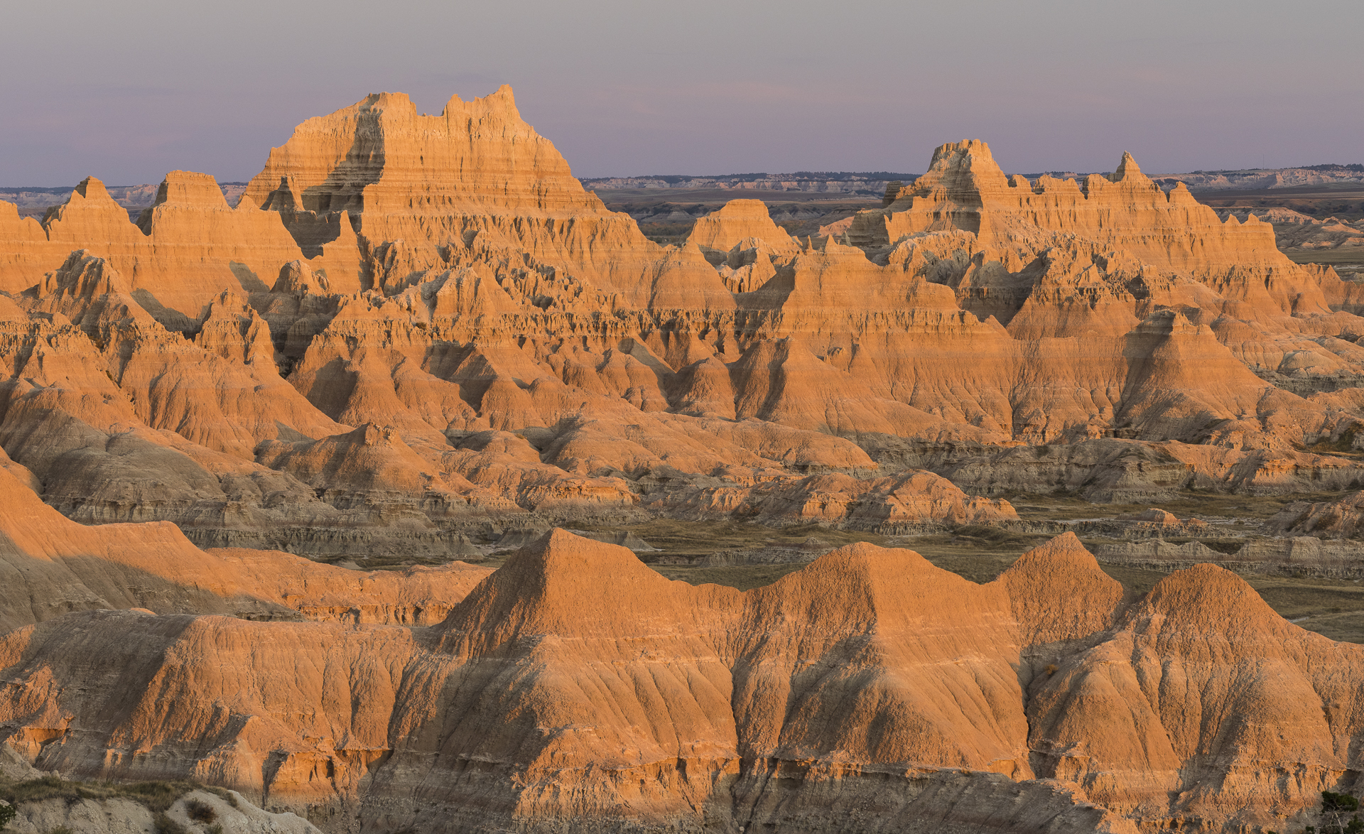 Sundown. South Dakota Badlands.