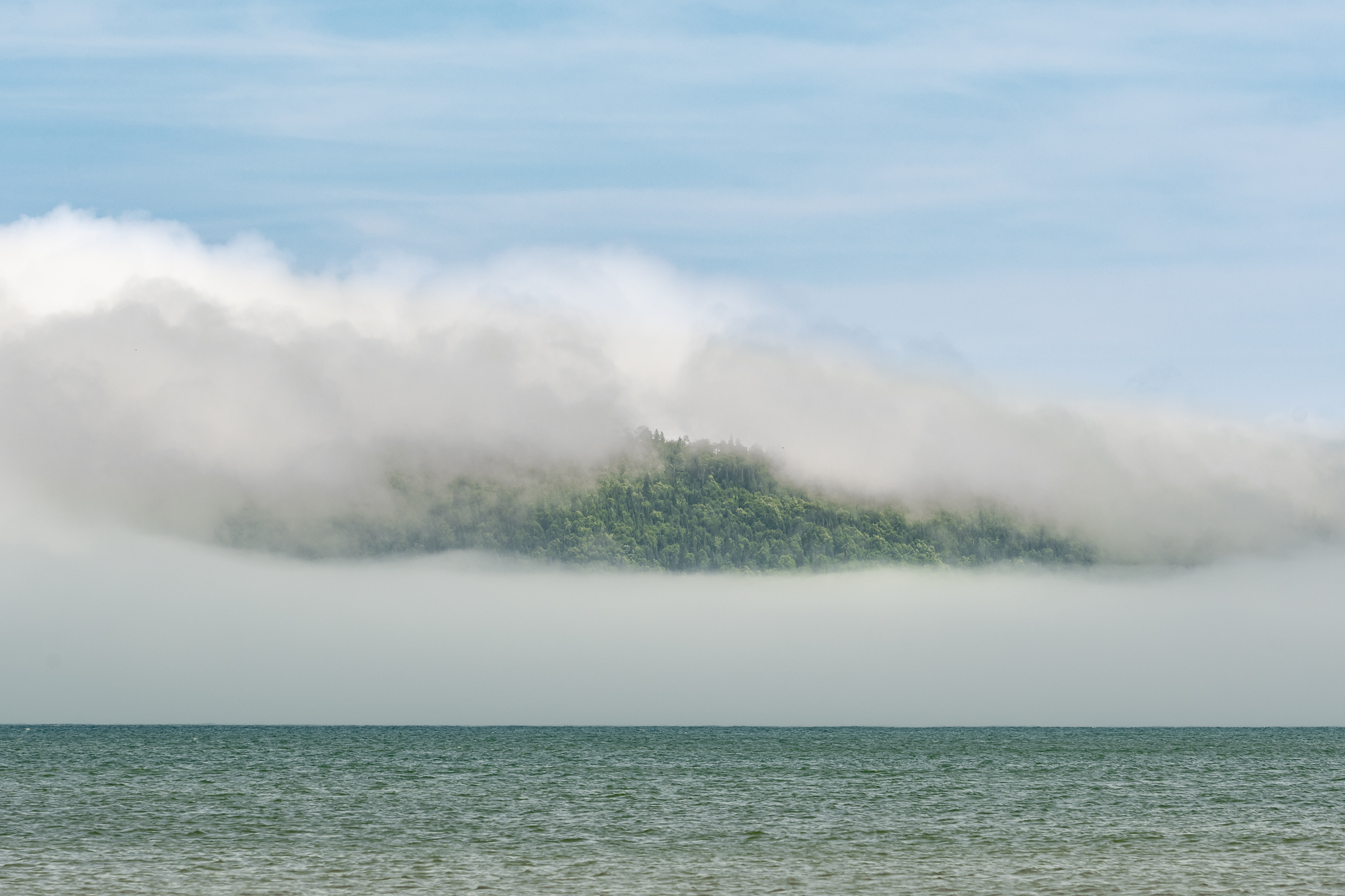 Fog over Grand Portage Bay