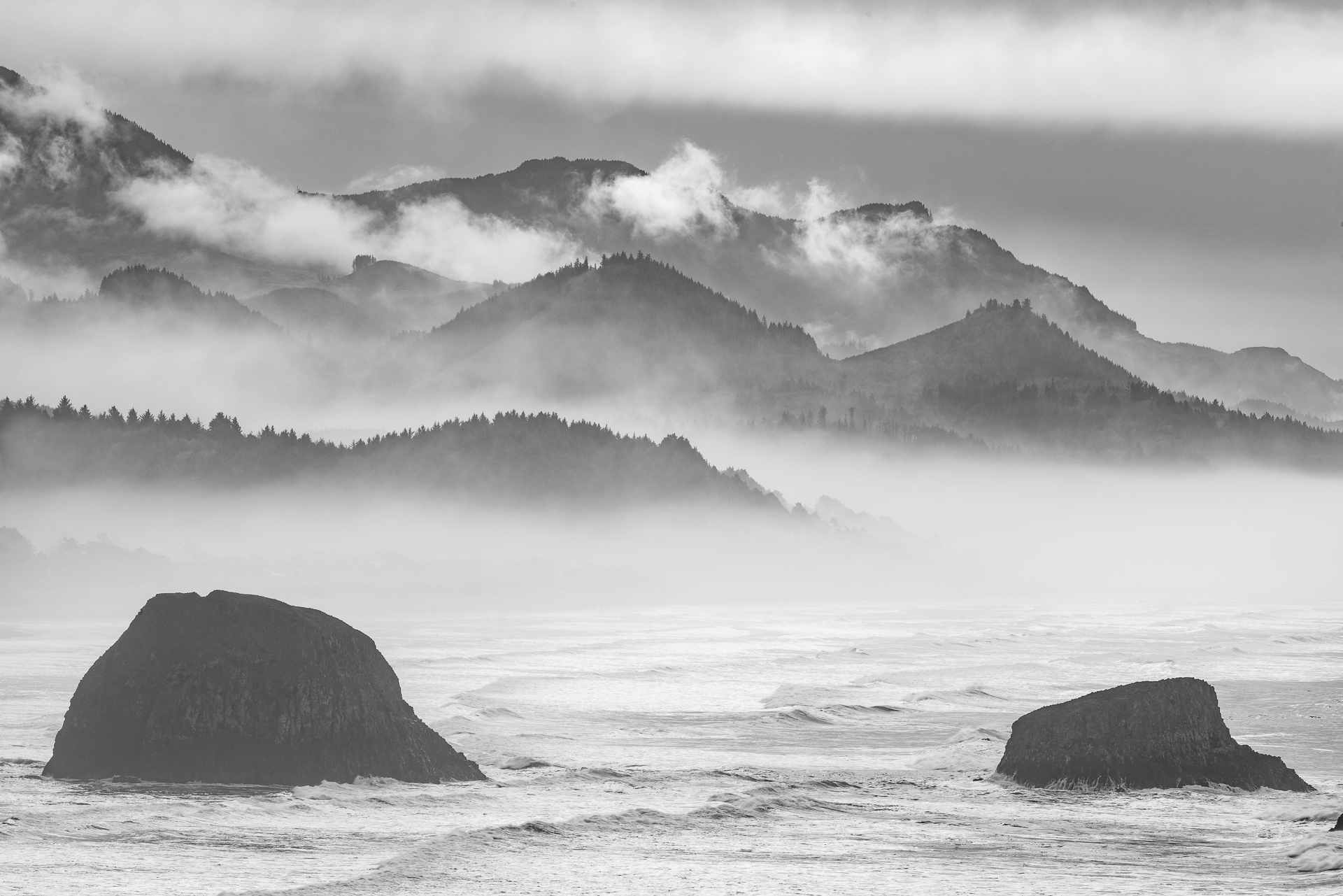Fog along the Pacific Coast