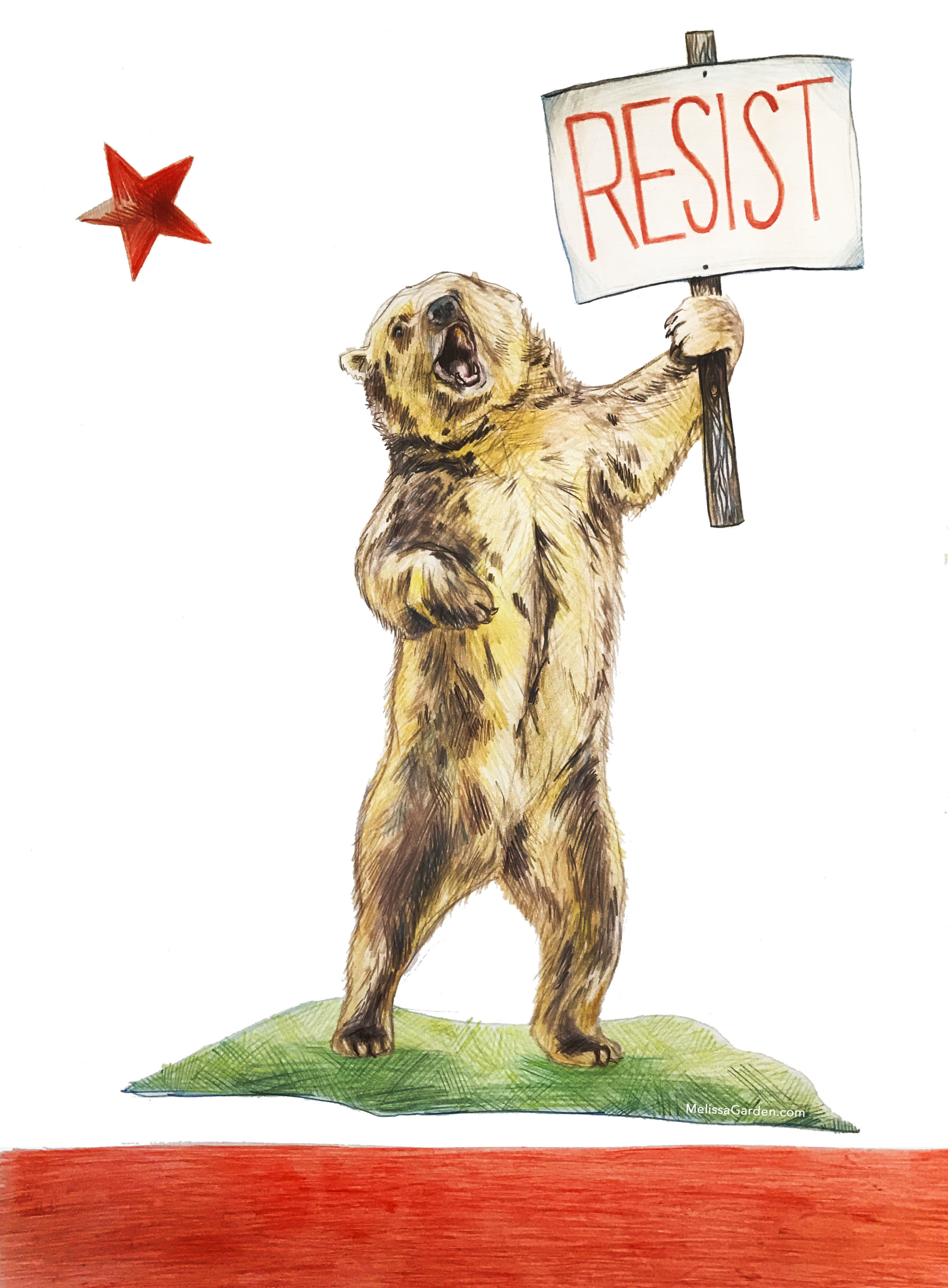 Download my California Resists Postcard pdf's to print at home and write to your representatives. Free!