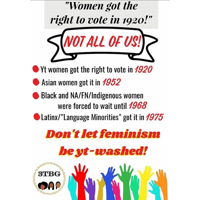 """""""Don't let feminism be yt-washed"""""""