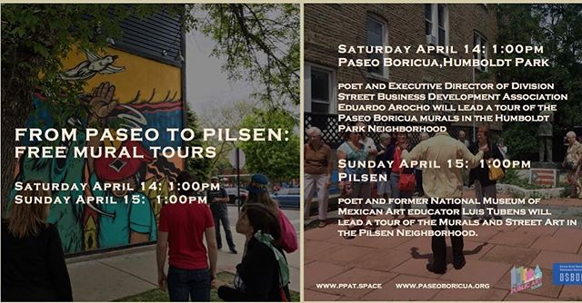 Join us in partnership with the Division Street Business District Association (DSBDA) as we offer 2 free walking mural tours of Chicago's most prominent Latino neighborhoods. Register today! Link in the bio.
