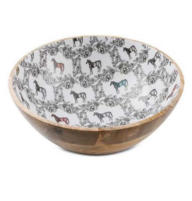 Surprise! A piece from our Thirstystone collection is now available at Macy's! You can buy the bowl separately or as part of their Derby Collection! #JBBDesign . . . . #shopjbbdesign #juliebrowningbovadesign #shopmacys #macysderbycollection #justlaunched #horsetoile #productdesign