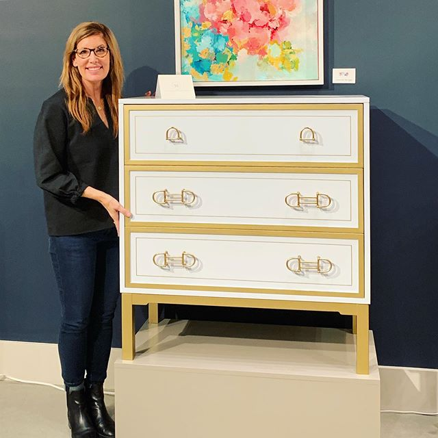 Right off the plane ✈️ First stop of market: @kindelfurniture to see Julie's facets piece that is being introduced this market! Inspired by her travels, she designed this piece to include touches of light blue, gold and her Kindel-exclusive equestrian bit hardware! Thank you Kindel, so beautiful! #jbbdesign #hpmkt . . . #kindelfurniture #facetscollection #highpointmarket #furnituremarket #furnituredesign #interiordesign #200steele