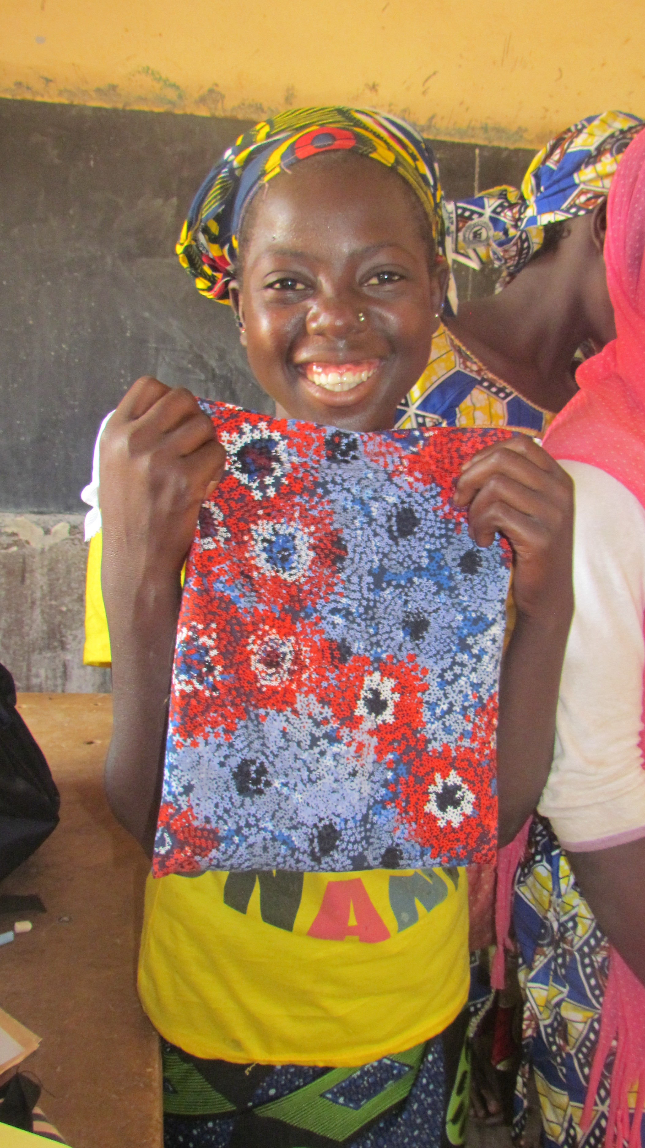 Volunteers made this girl's menstrual kit, and hundreds of others.
