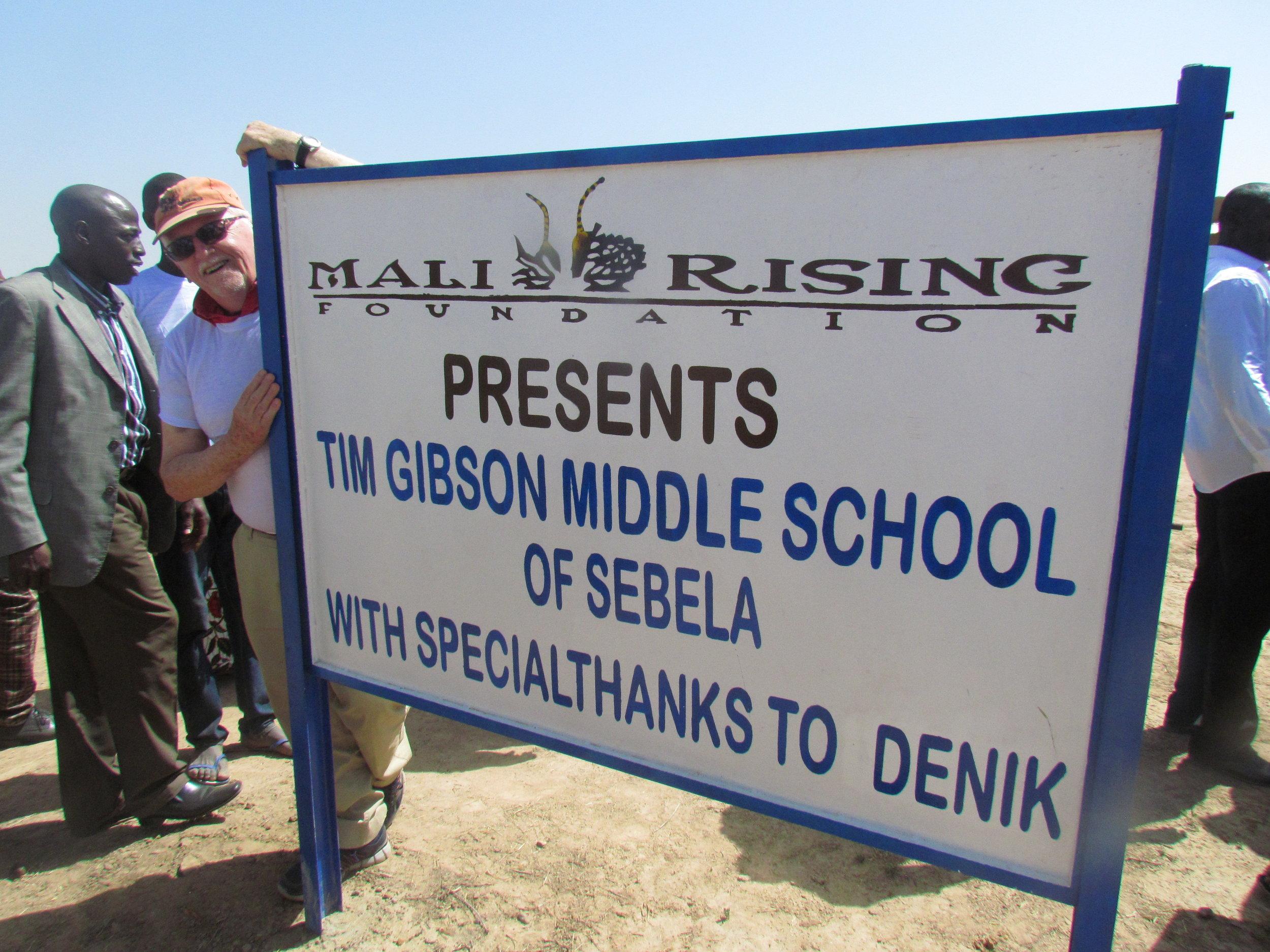 Tim Gibson Middle School   Sebela, 2017