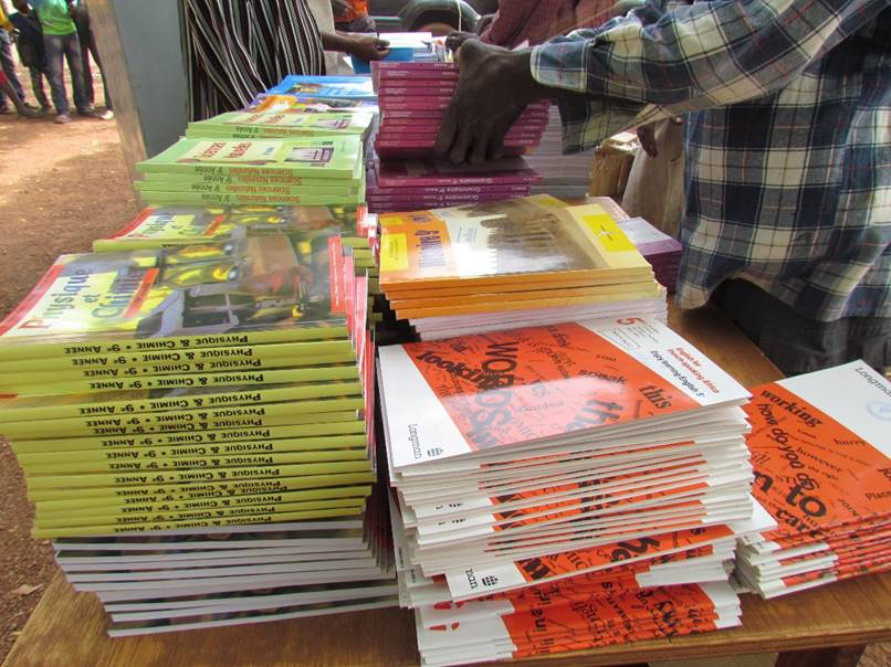 Books for each grade were provided in multiple subjects.