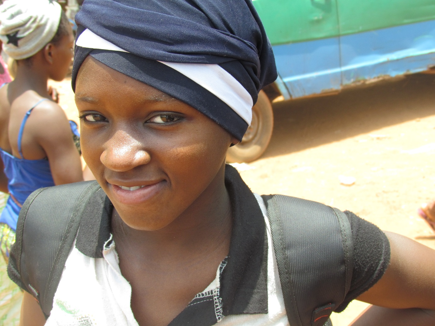Fatoumata walks 10 to 20 miles a day for the honor of an education.