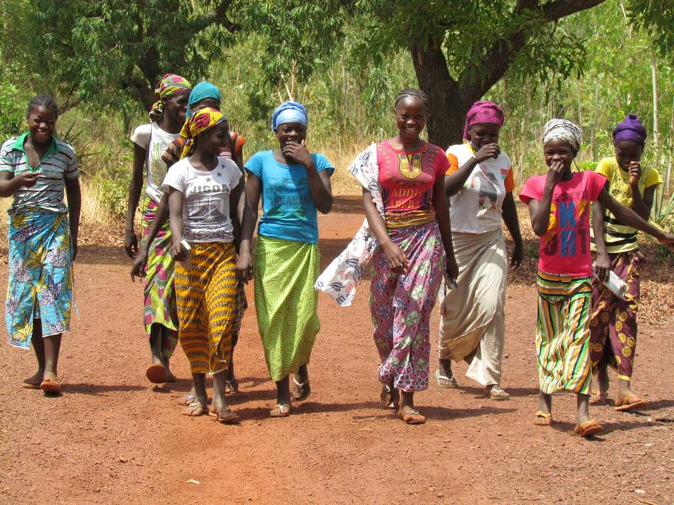 Long walks to school are a challenge for Mali's kids, but that doesn't mean there isn't some fun to be had on the road.