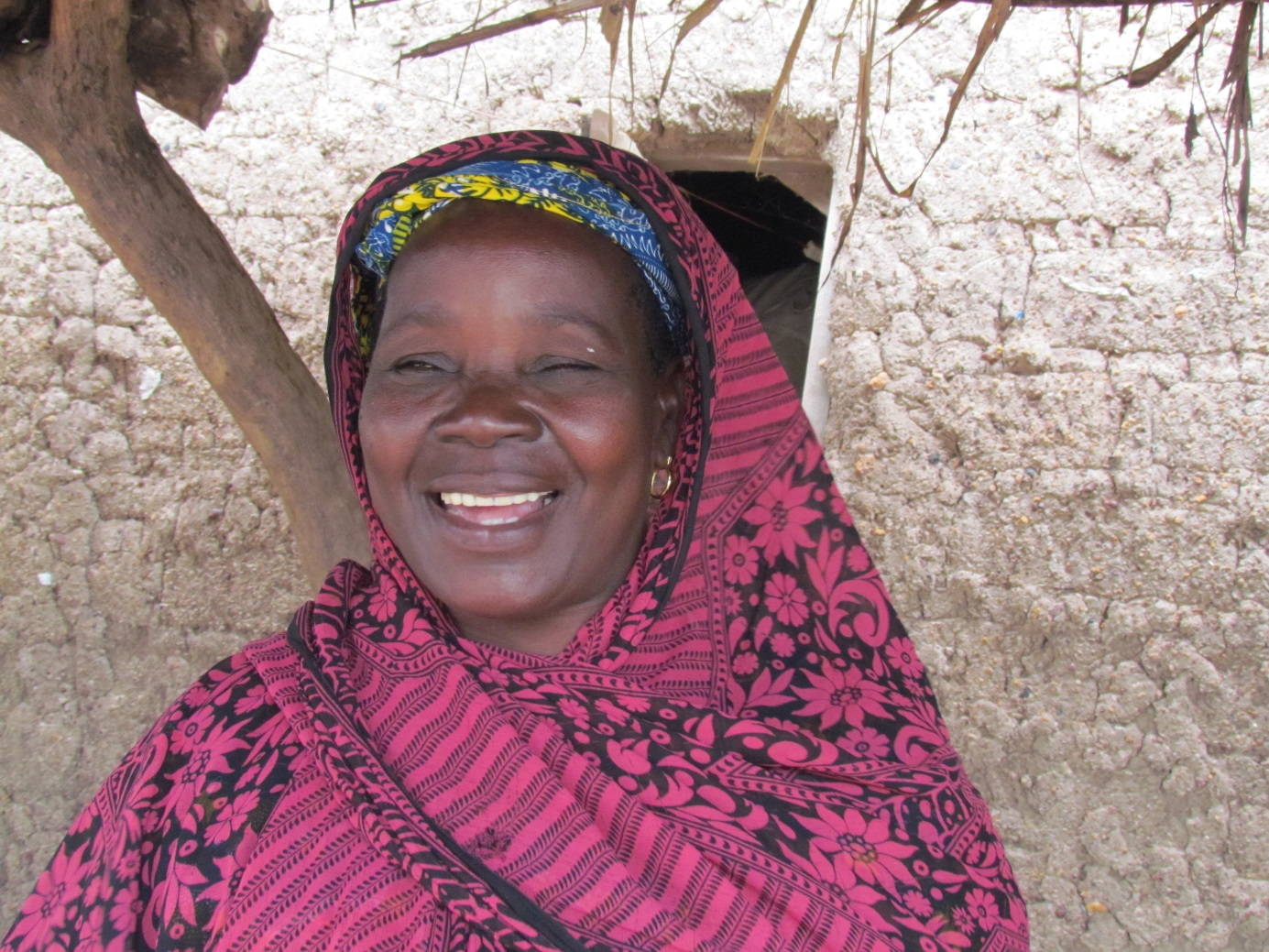 A mother who knows her children will now be able to attend school is a happy mother!