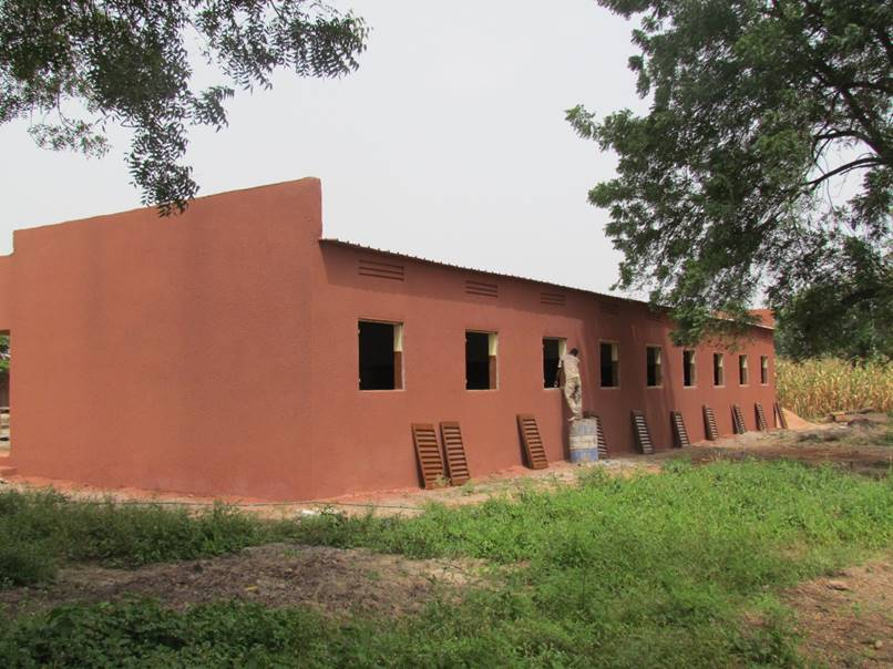 The back of the school, just waiting for the window shutters to be hung.