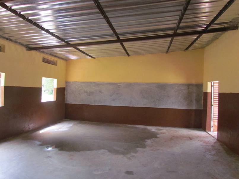 Inside a freshly finished classroom.