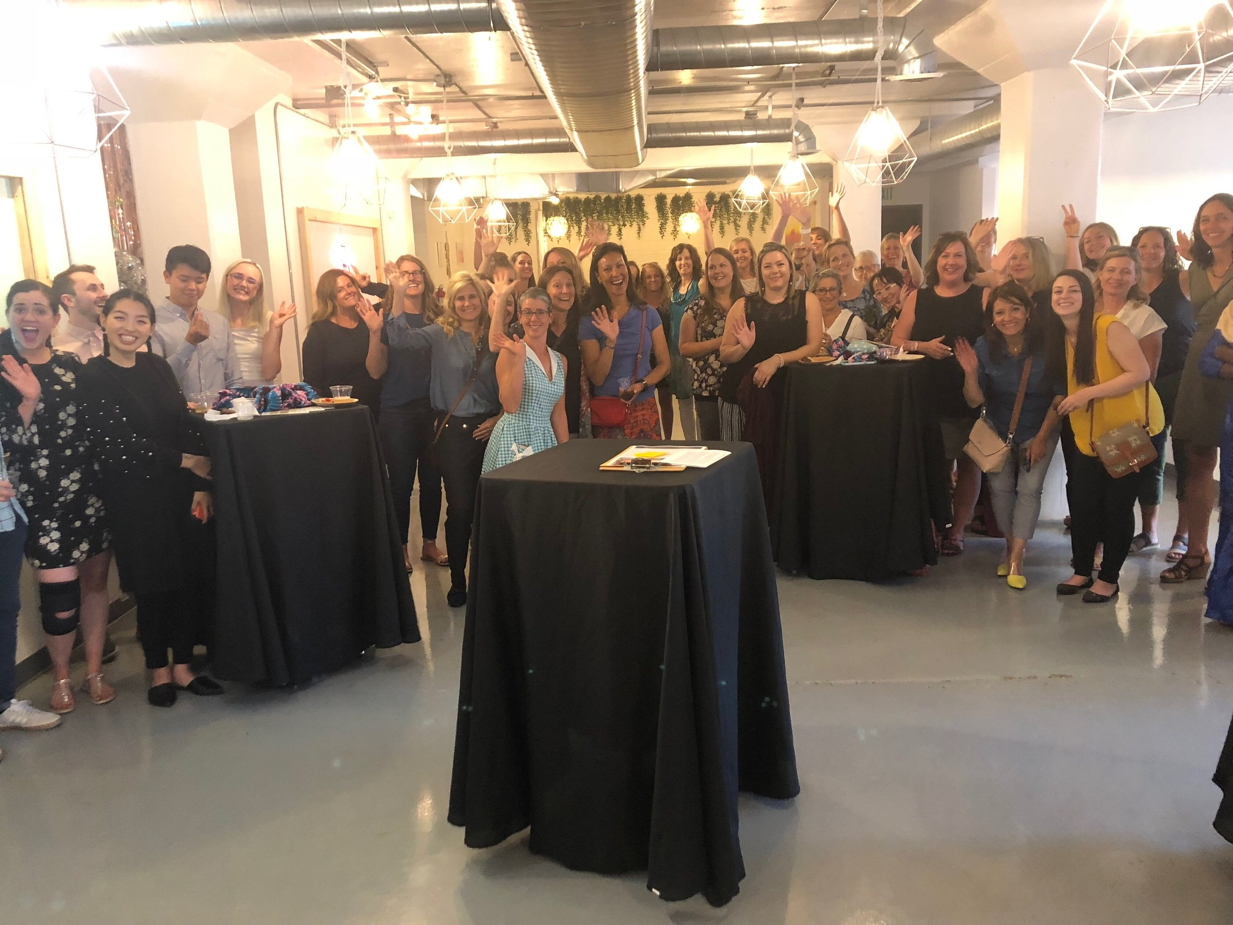 More than 50 women (and supportive men!) attended the 50 Women Mixer to kick off our community.
