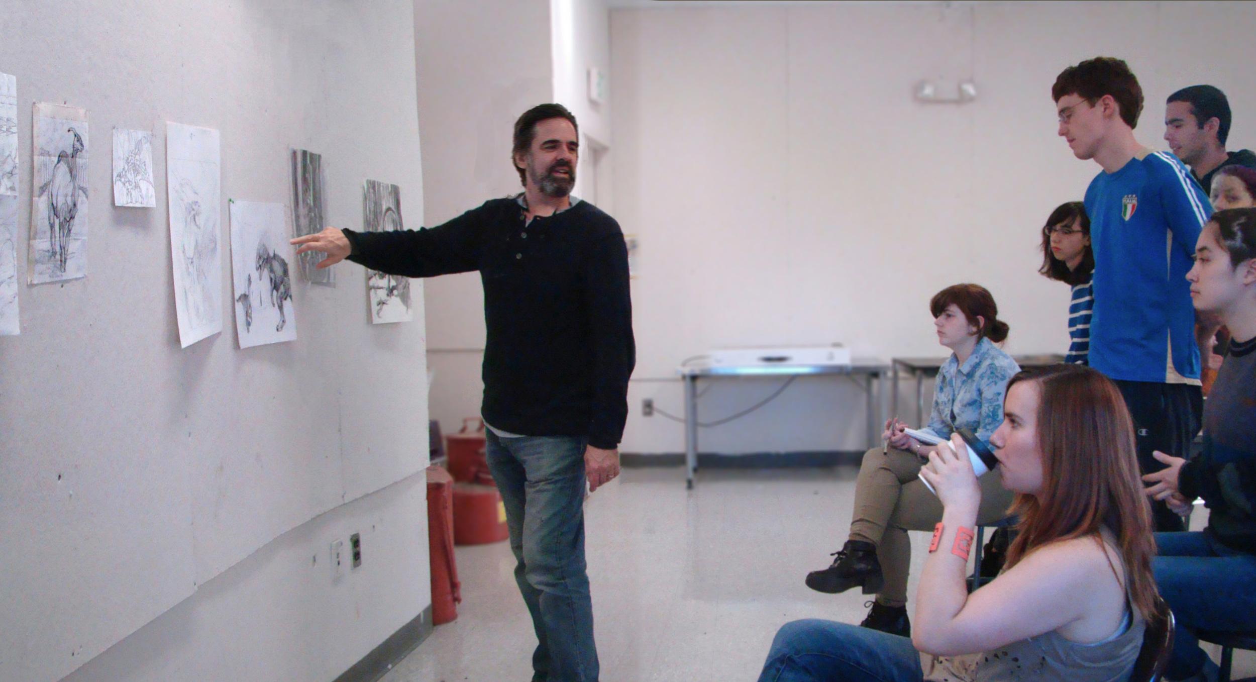 a critique in class