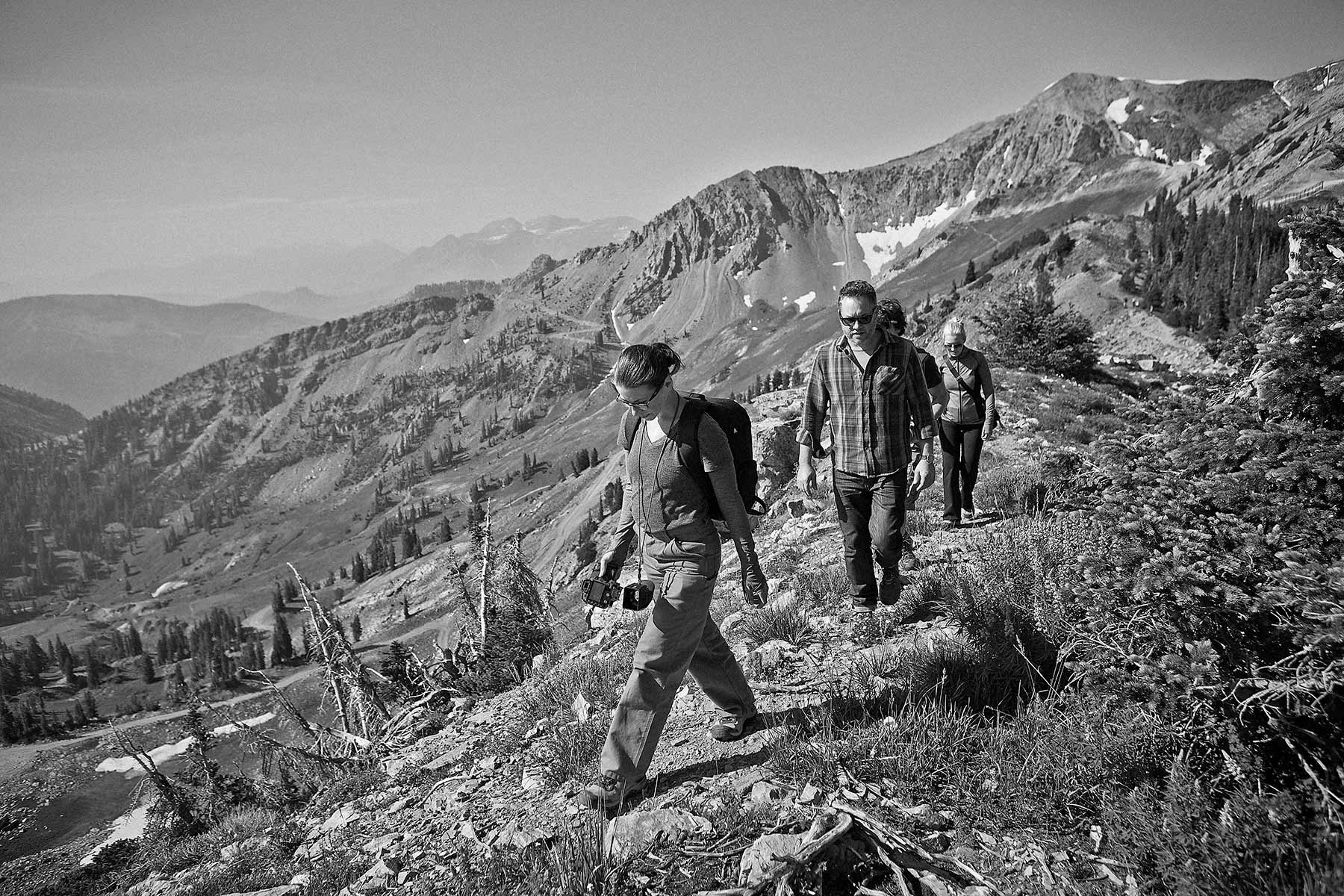 Day 1 - At the summit of Snowbird, Utah location and tech scouting.