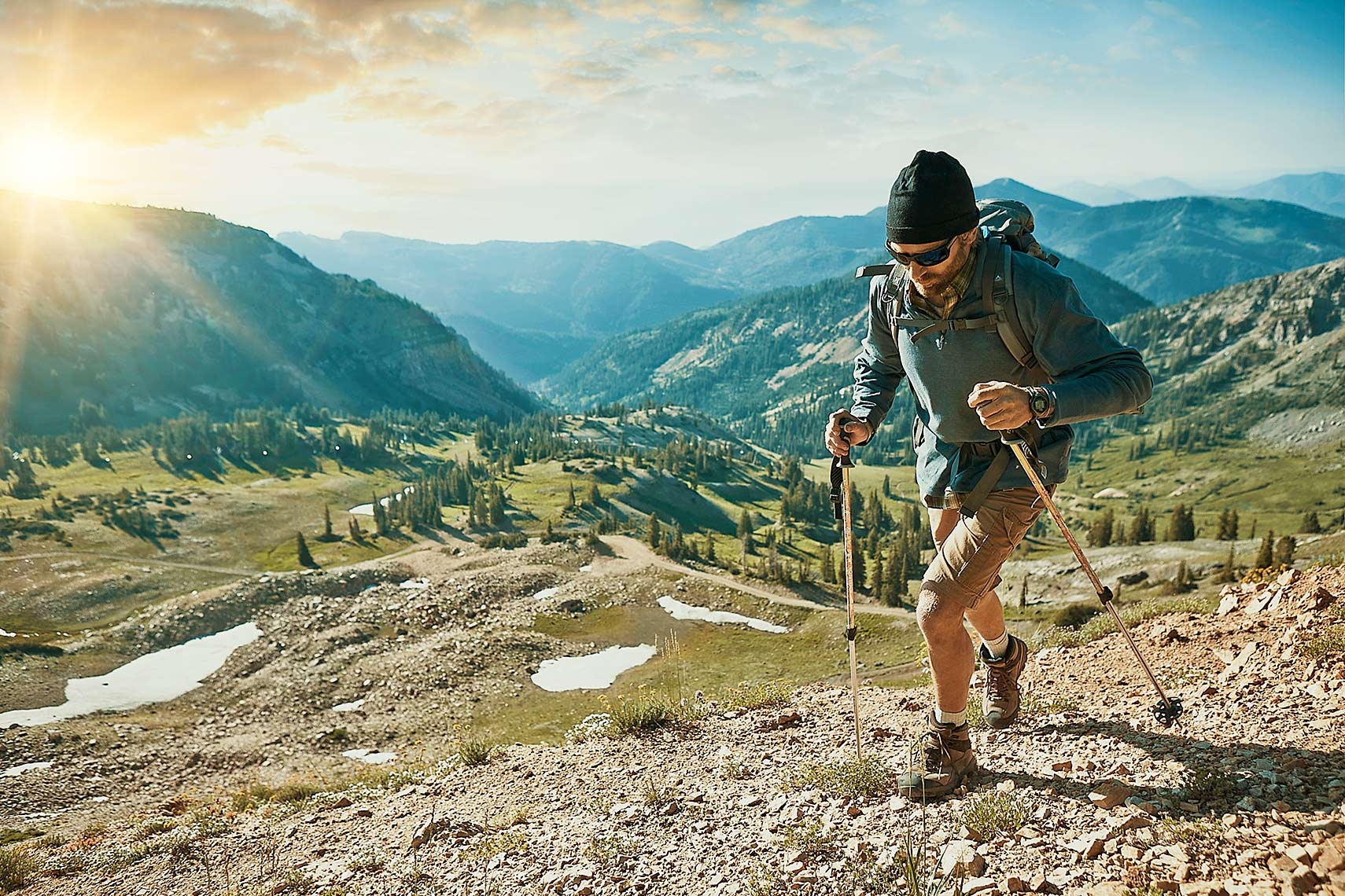 Final image from the hiking boot campaign.