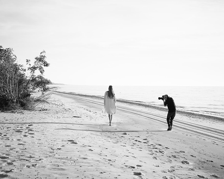 Shooting on the beach of majestic Lake Michigan.