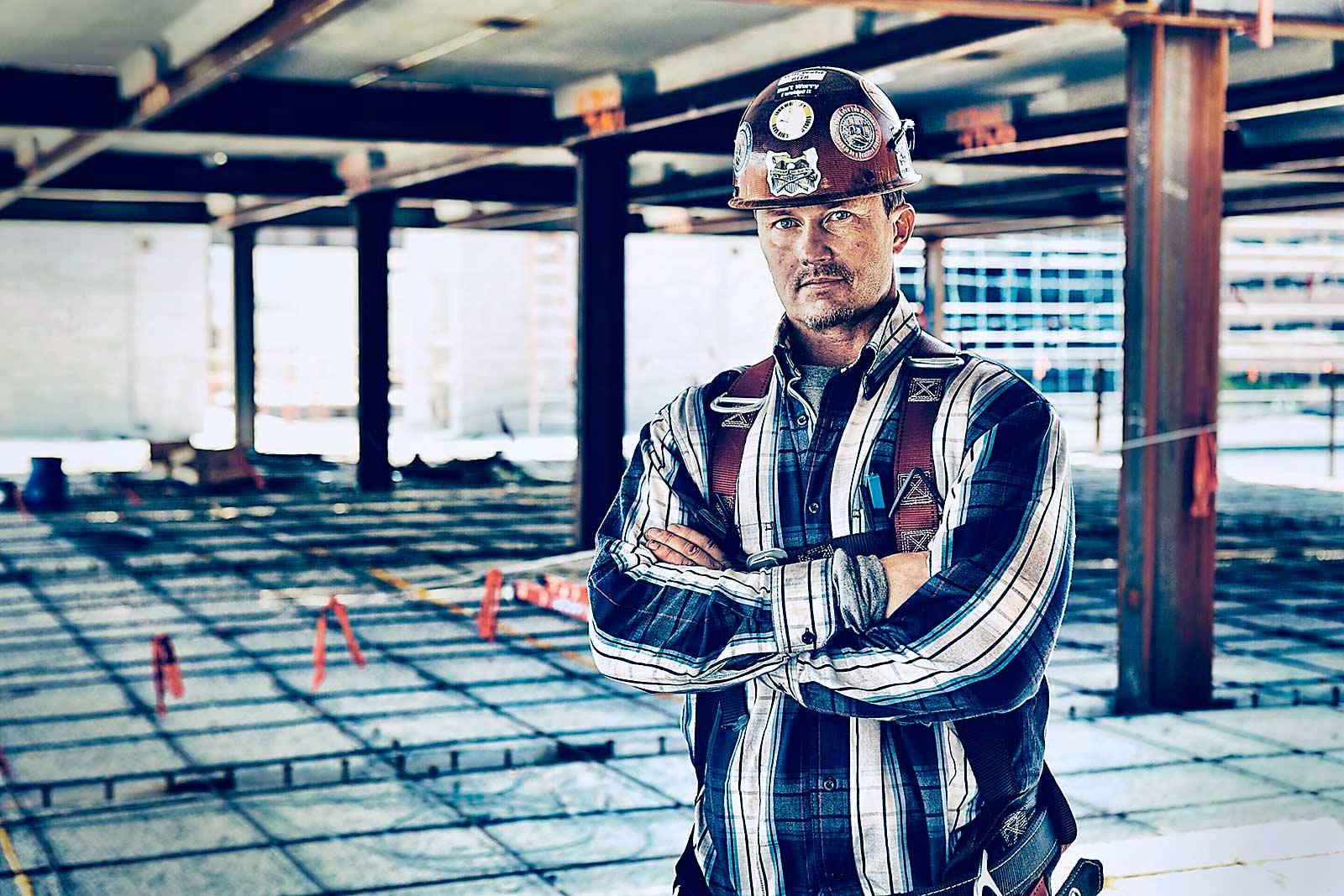 Iron worker portrait.