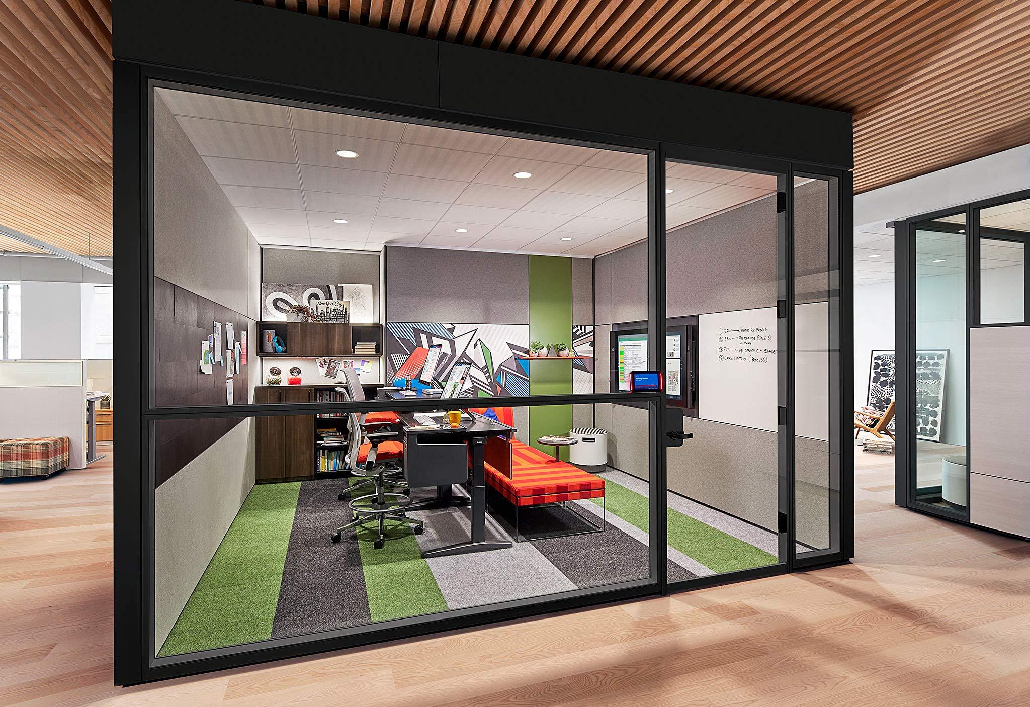 A beautiful Steelcase + Microsoft creative space in New York City.