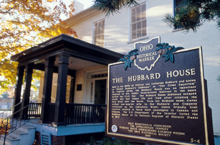 Hubbard House Underground Railroad Museum - 1603 Walnut Blvd. * (440) 964-8168Open: Memorial Day Weekend through Labor DayFriday – Sundays 1pm – 5pm, last tour begins at 4:30pmGroup tours available year-round by appointment. Minimum 10 per group