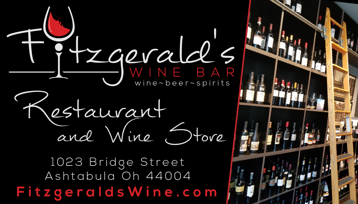 Fitzgerald's Wine Bar, Restaurant & Shop - 1023 Bridge Street * (440) 536-4361Fitzgerald's Wine Bar & Restaurant offers wine, beer, spirits, lite bites to full entrees. Wine & gift shoppe. Plus private event space and outdoor seating.