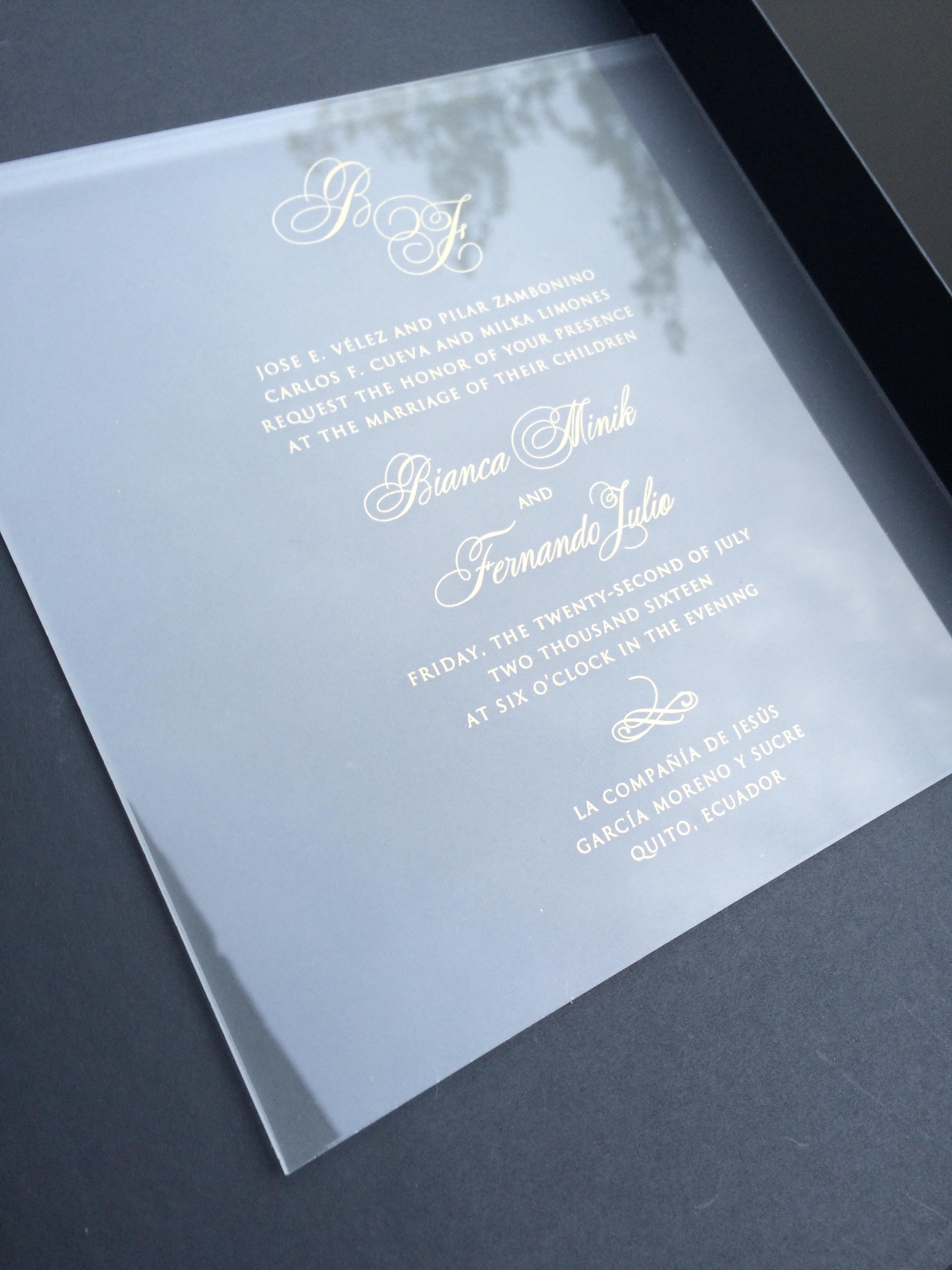 Bianca & Fernando Acrylic Invitation.JPG