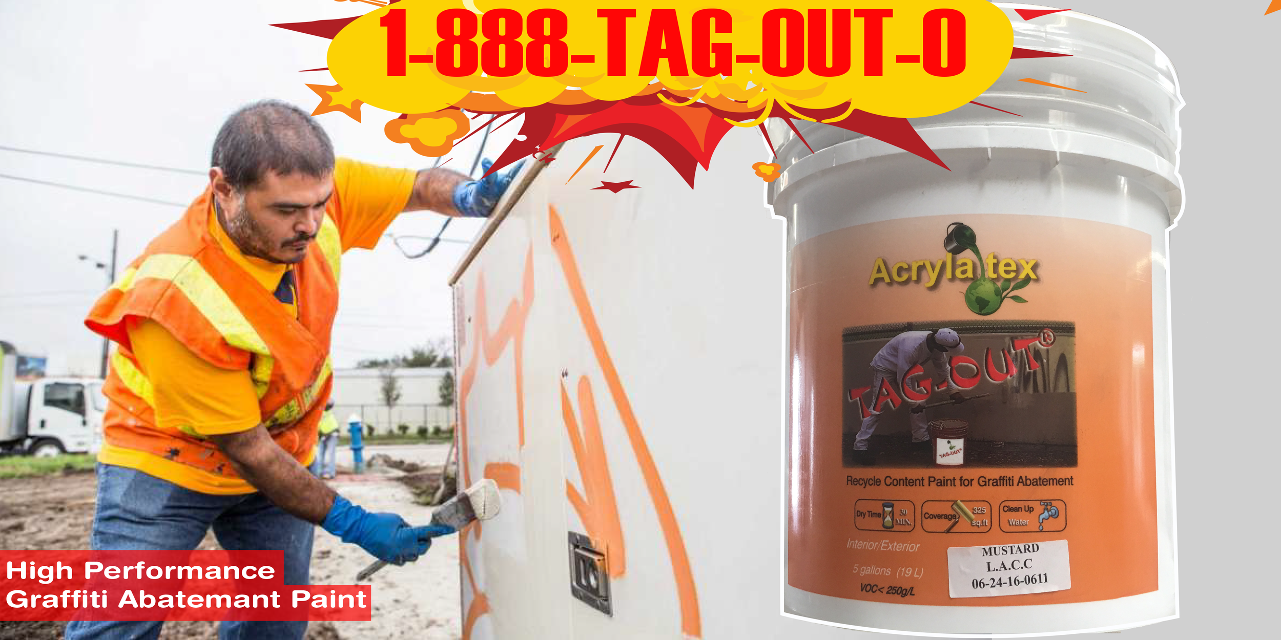 graffiti removal tag-out paint