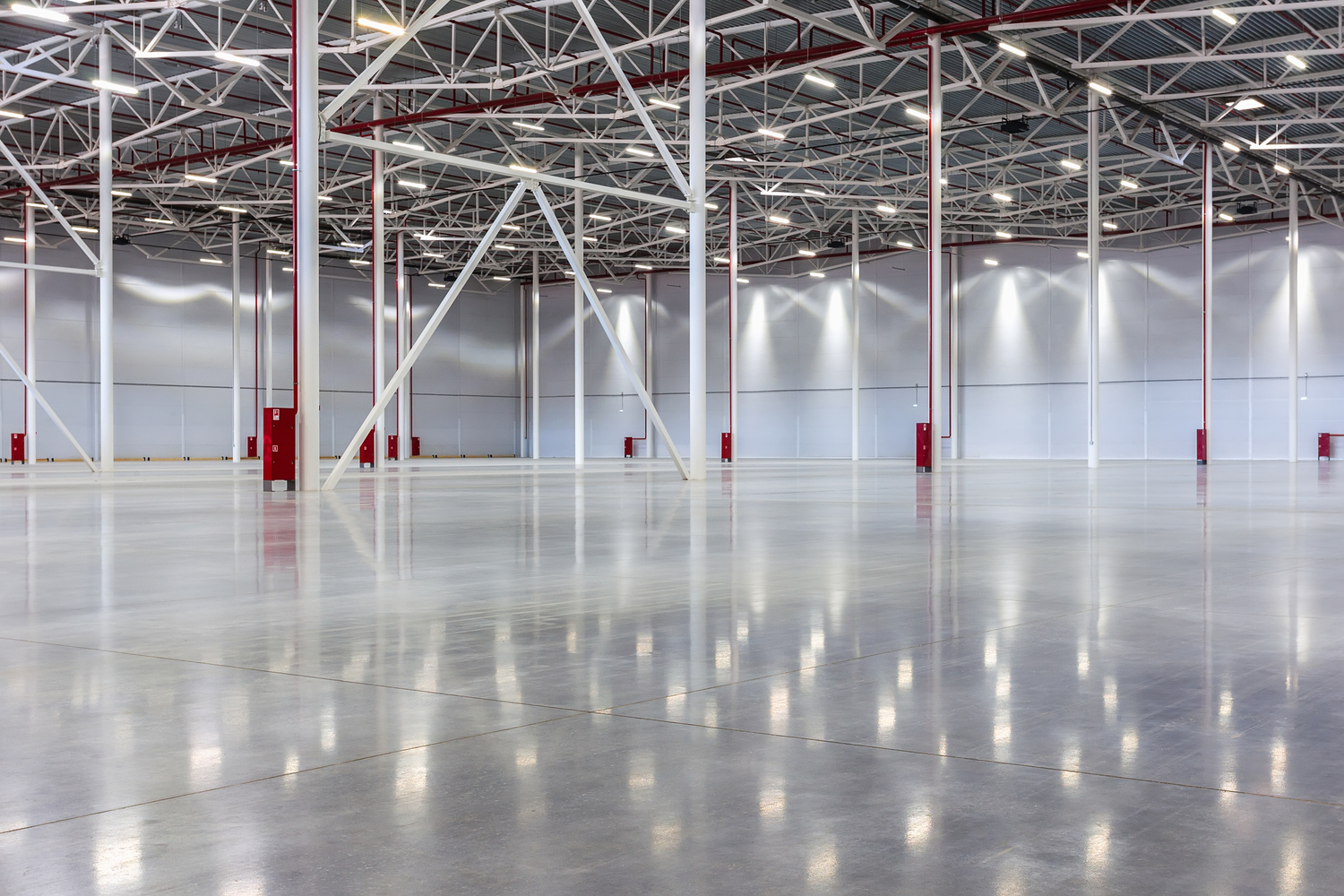 Industrial Polished Concrete can be a perfect compliment to a light manufacturing facility.
