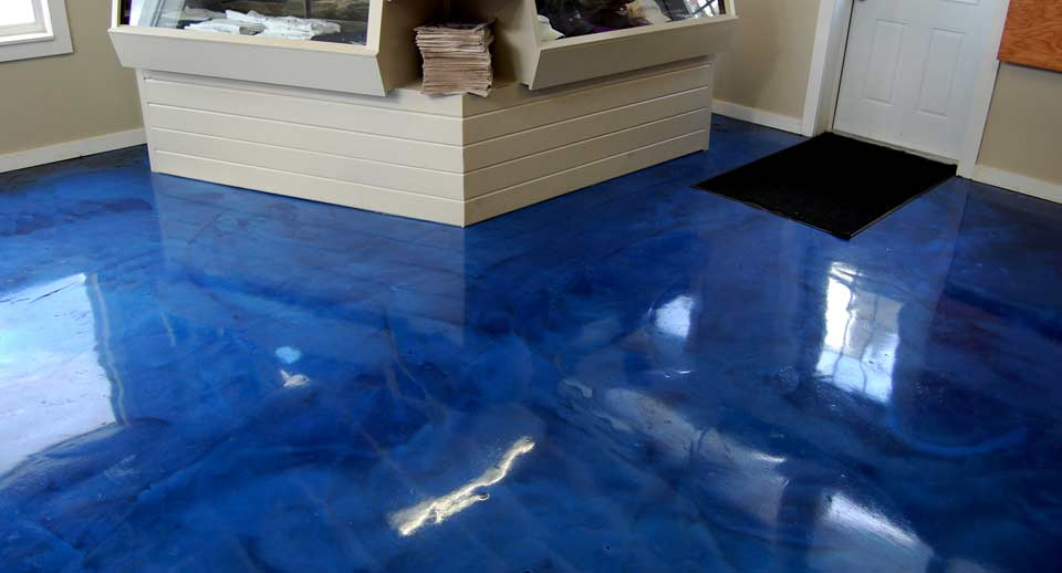 Metallic Epoxy can come in multiple colour and design options.
