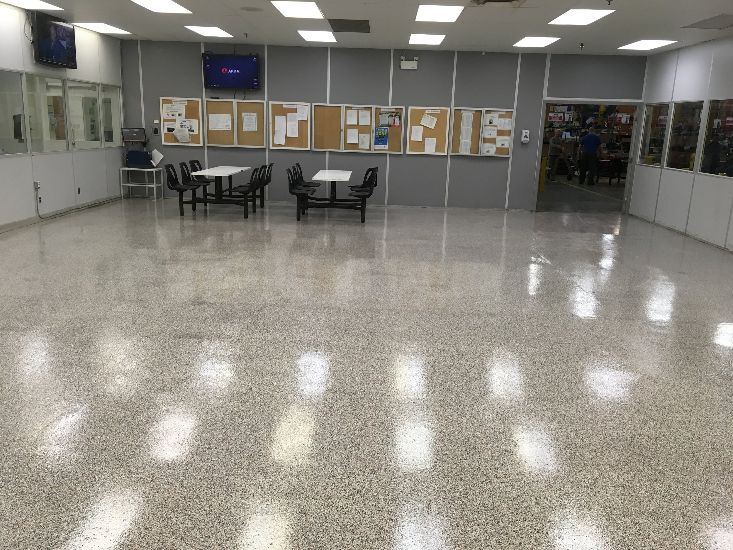 Epoxy with Decorative Flake system for a lunchroom