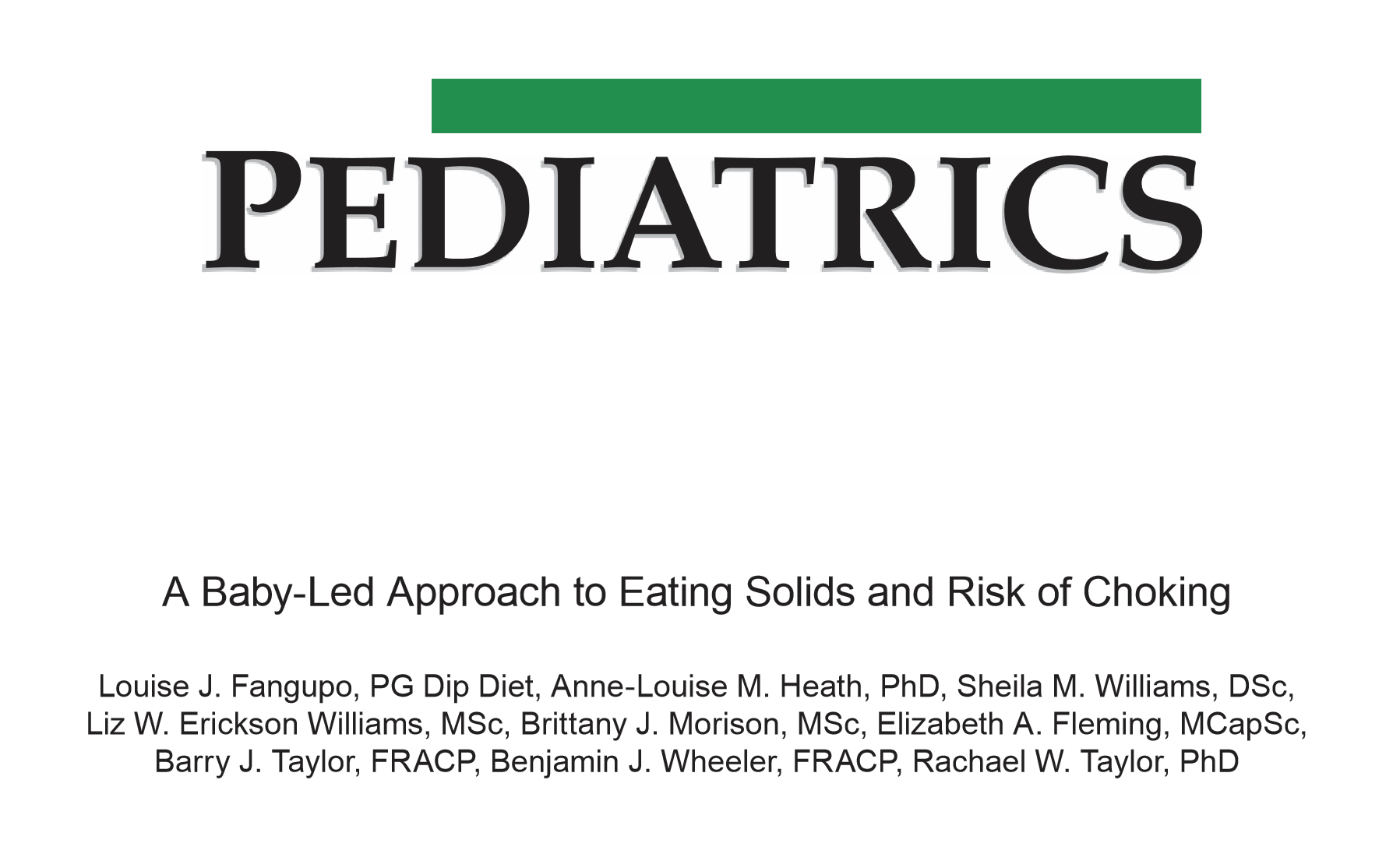 "I hereby avow that I will review any randomized trial with ""baby-led"" in the title."