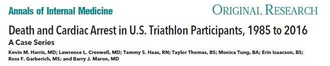 Death and Cardiac Arrest in U.S. Triathlon Participants, 1985 to 2016