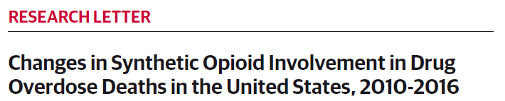 Changes in Synthetic Opioid Involvement in Drug Overdose Deaths in the United States, 2010-2016