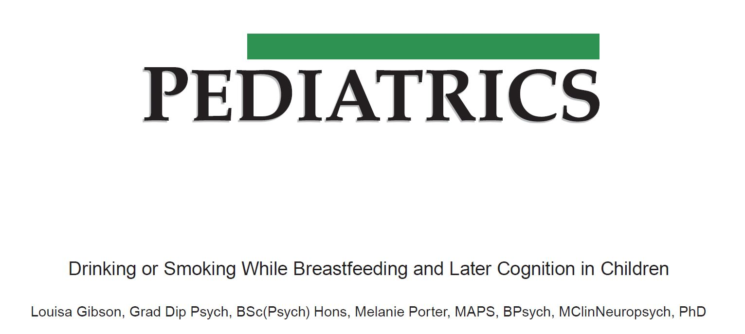 Drinking or Smoking While Breastfeeding and Later Cognition in Children